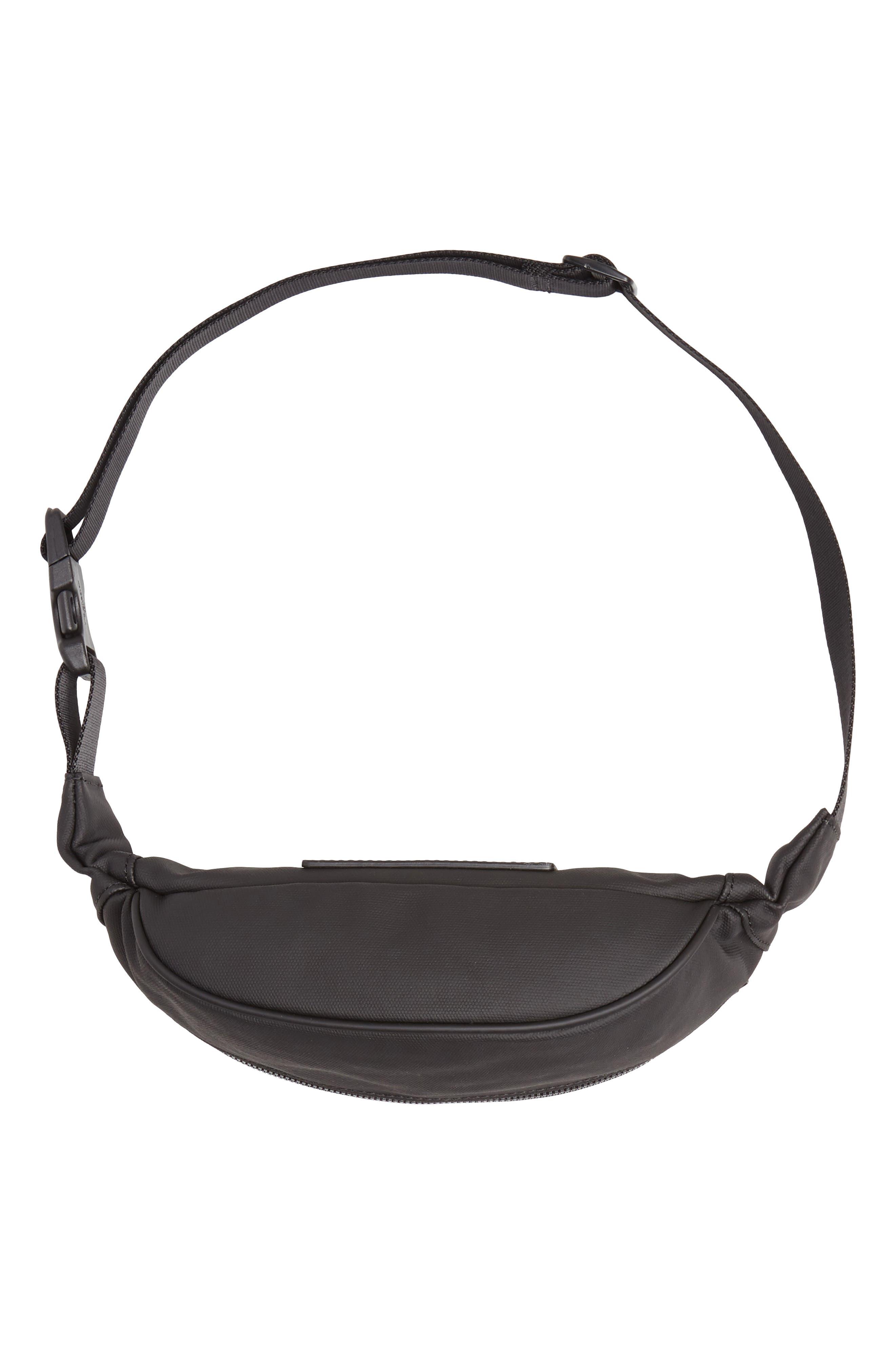 Mason Water Resistant Belt Bag,                             Alternate thumbnail 7, color,                             BLACK/ BLACK