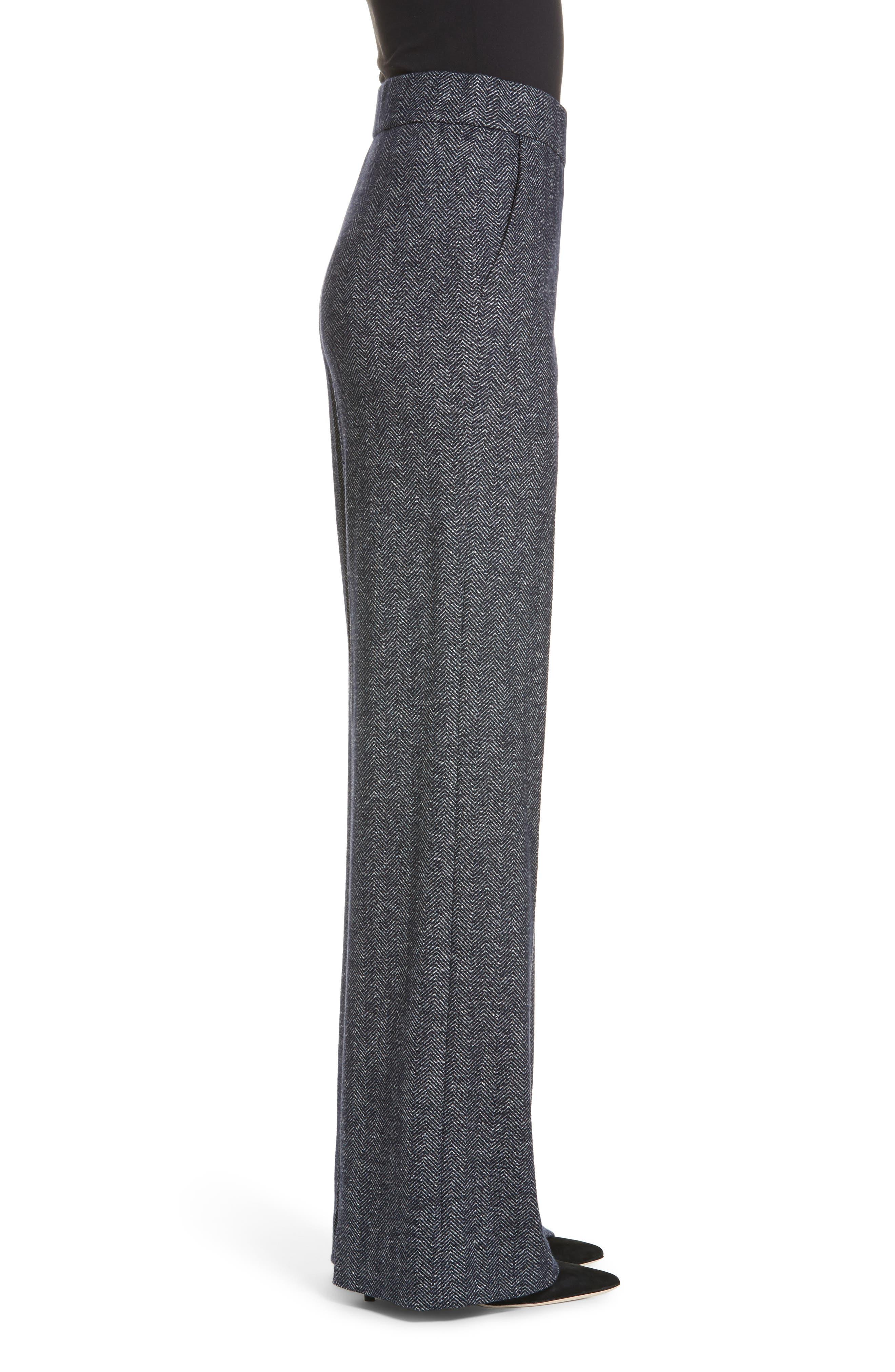 Talbert Chevron Knit Wide Leg Pants,                             Alternate thumbnail 3, color,                             NAVY MULTI