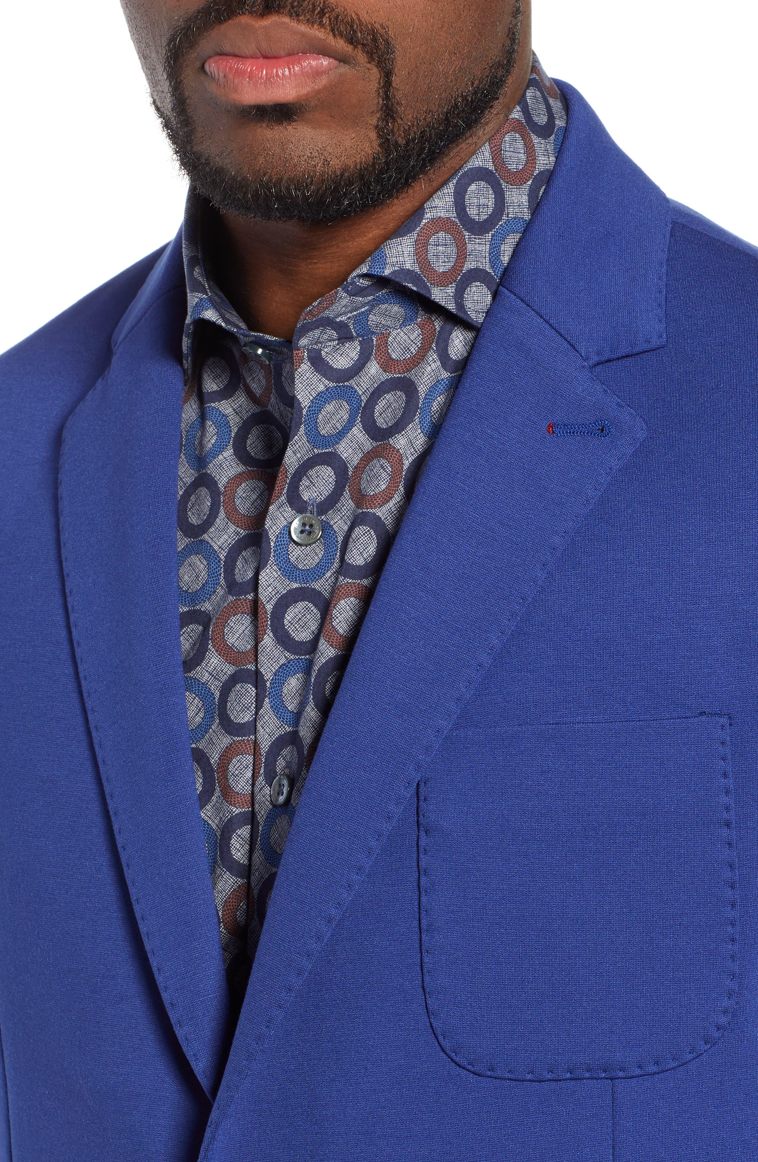 Solid Sport Coat,                             Alternate thumbnail 4, color,                             NIGHT BLUE