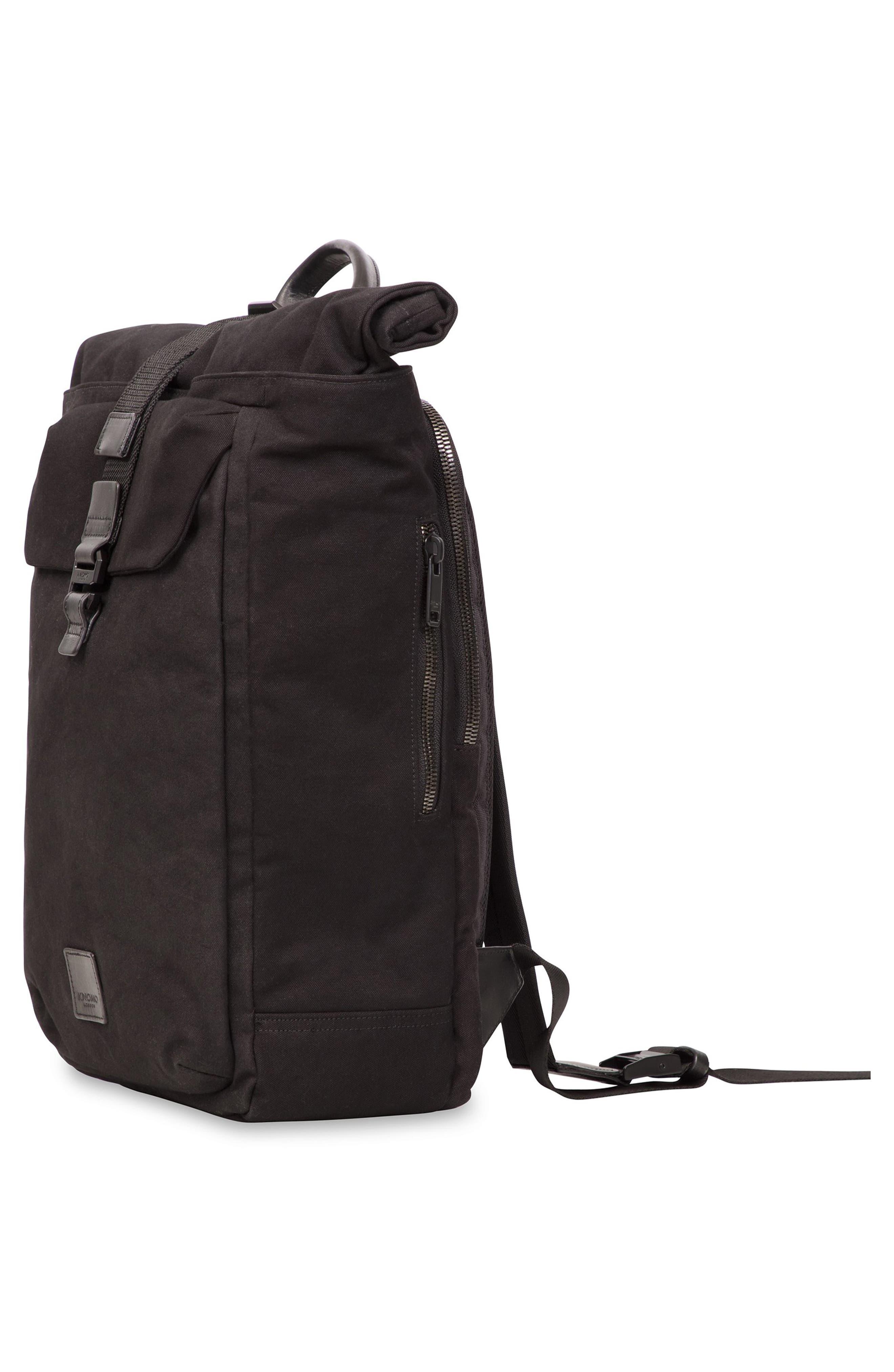 Fulham Novello Backpack,                             Alternate thumbnail 4, color,                             BLACK