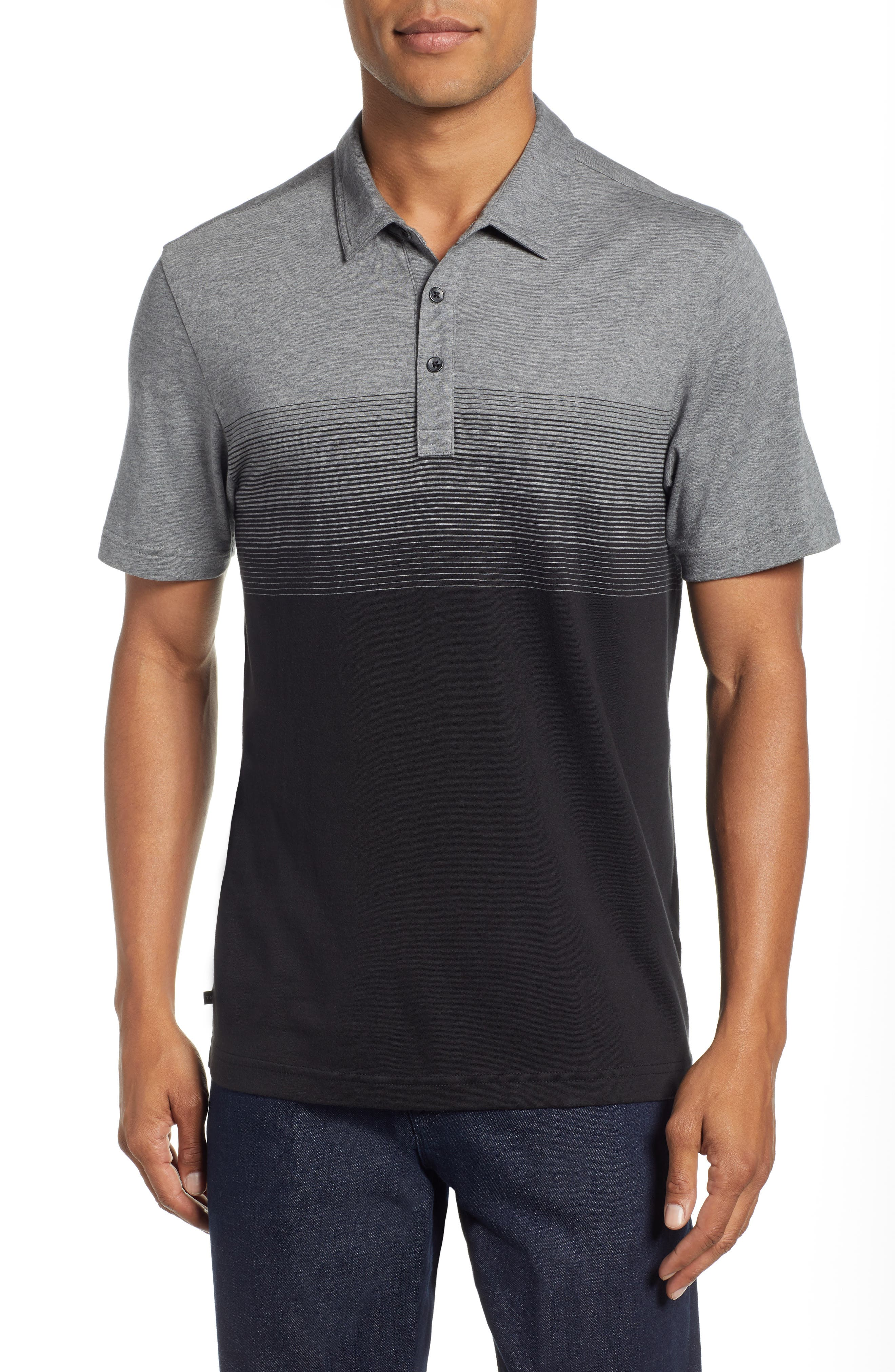 Smoothie Machine Short Sleeve Regular Fit Polo Shirt,                         Main,                         color, BLACK