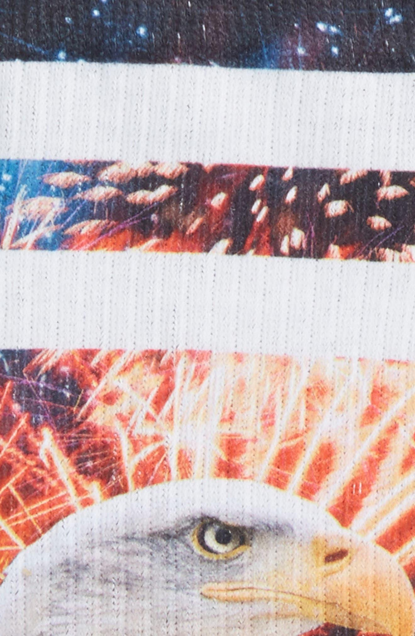 Defender Crew Socks,                             Alternate thumbnail 2, color,                             BLACK