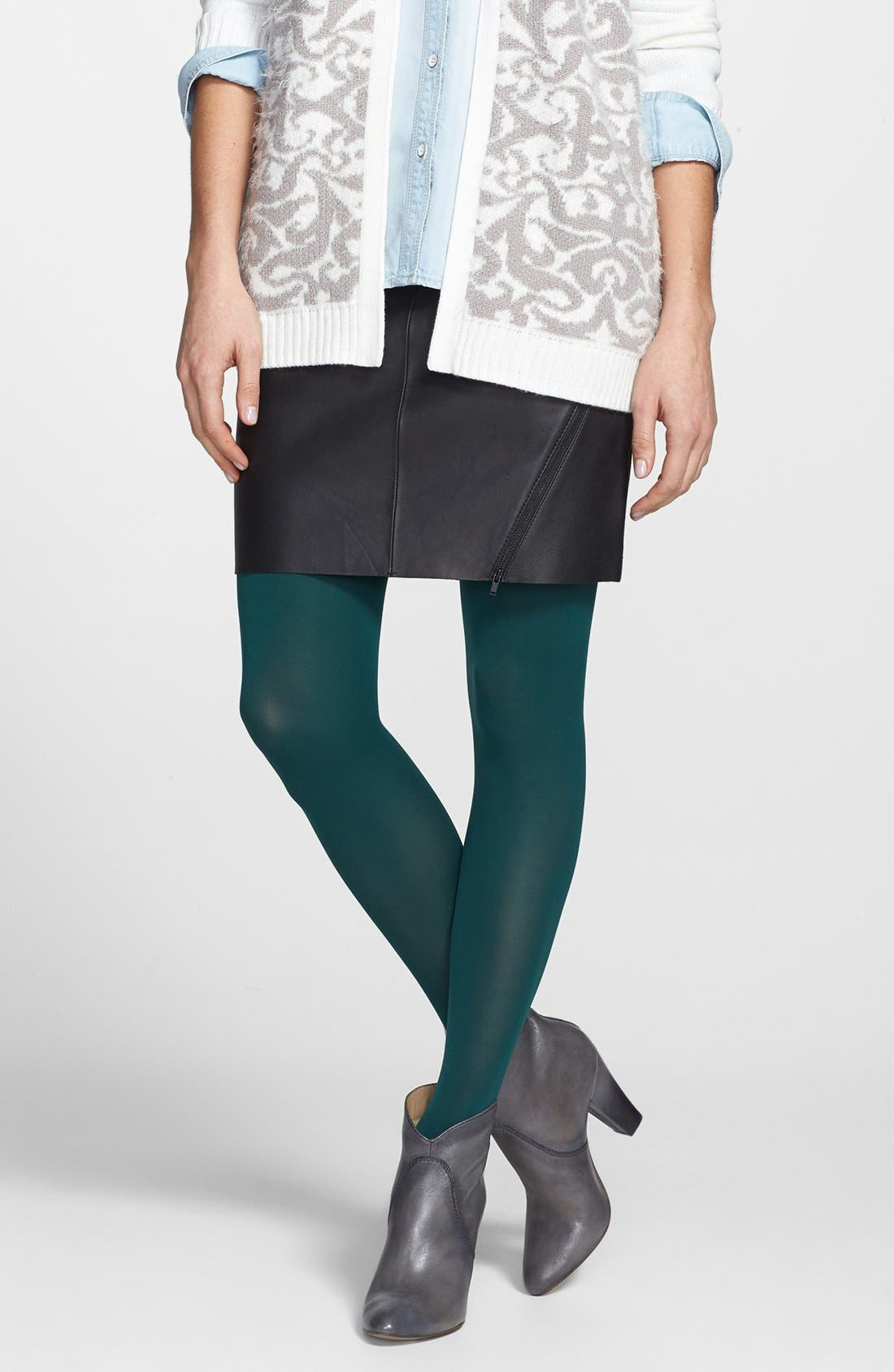 'Everyday' Opaque Tights,                             Main thumbnail 3, color,