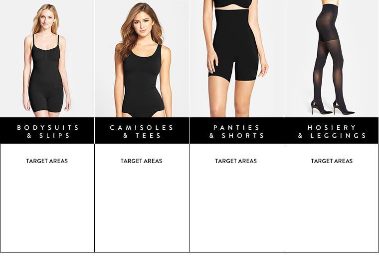 Shapewear silhouette guide.