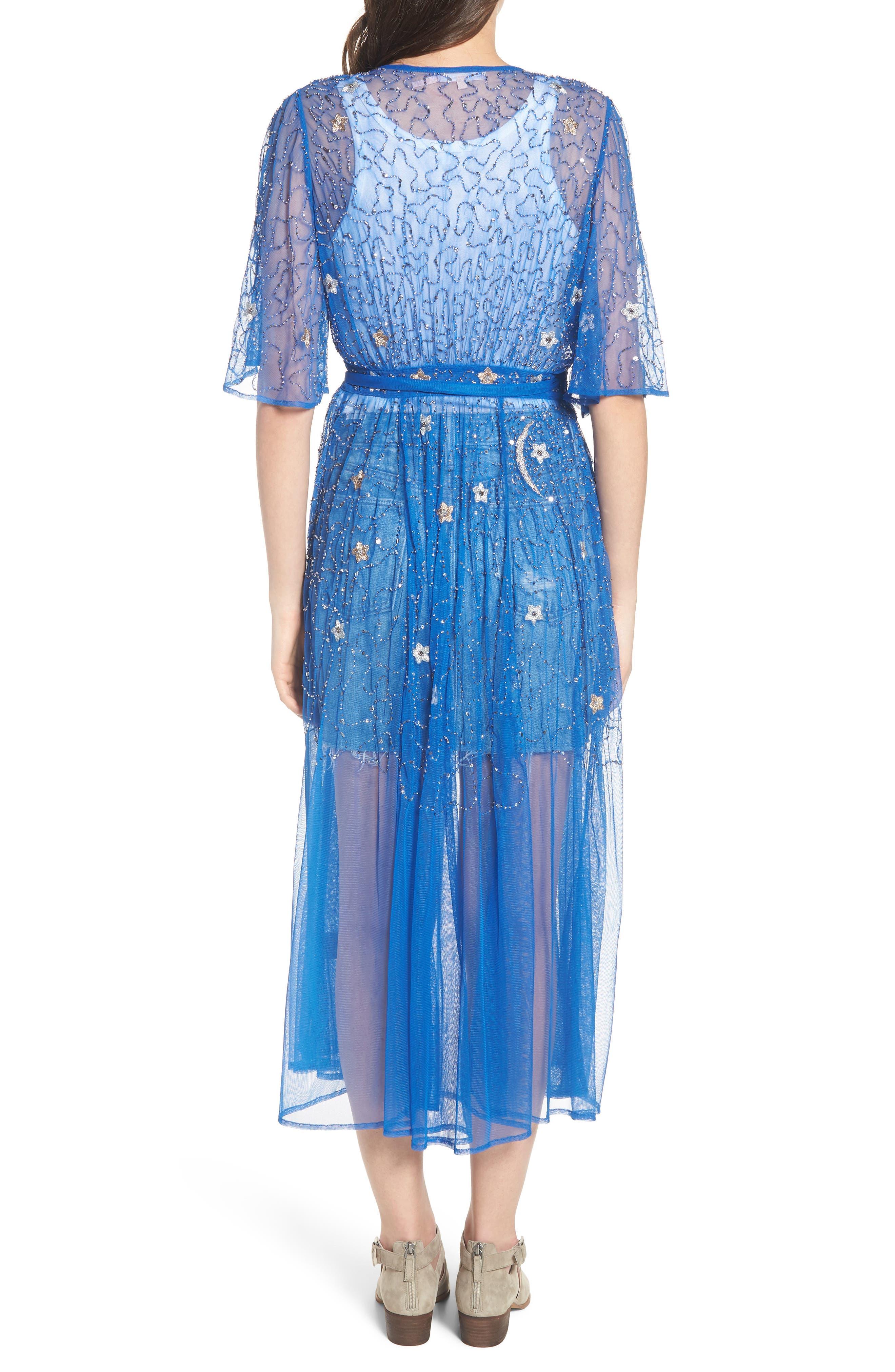 Stargazer Kimono,                             Alternate thumbnail 2, color,                             LAPIZ BLUE