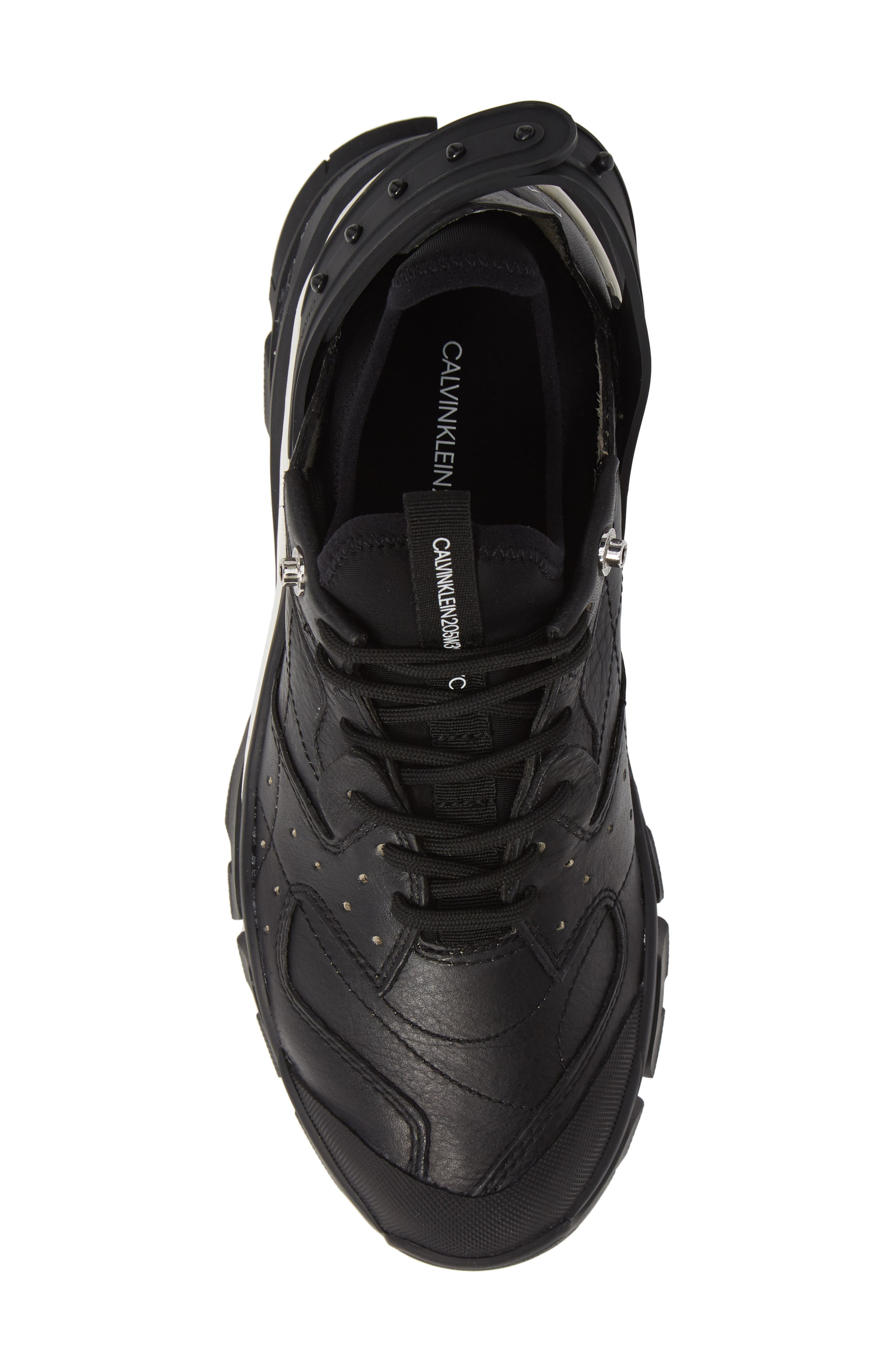 Carlos 10 Snapback Runner Sneaker,                             Alternate thumbnail 5, color,                             BLACK/ WHITE