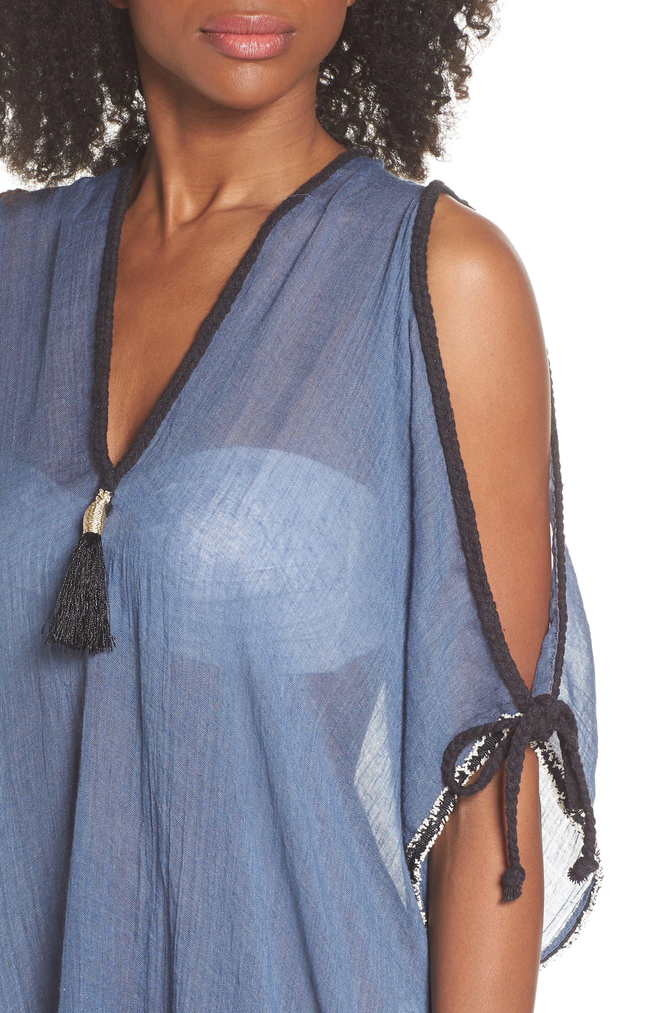 Cold Shoulder Cover-Up Dress,                             Alternate thumbnail 4, color,                             414