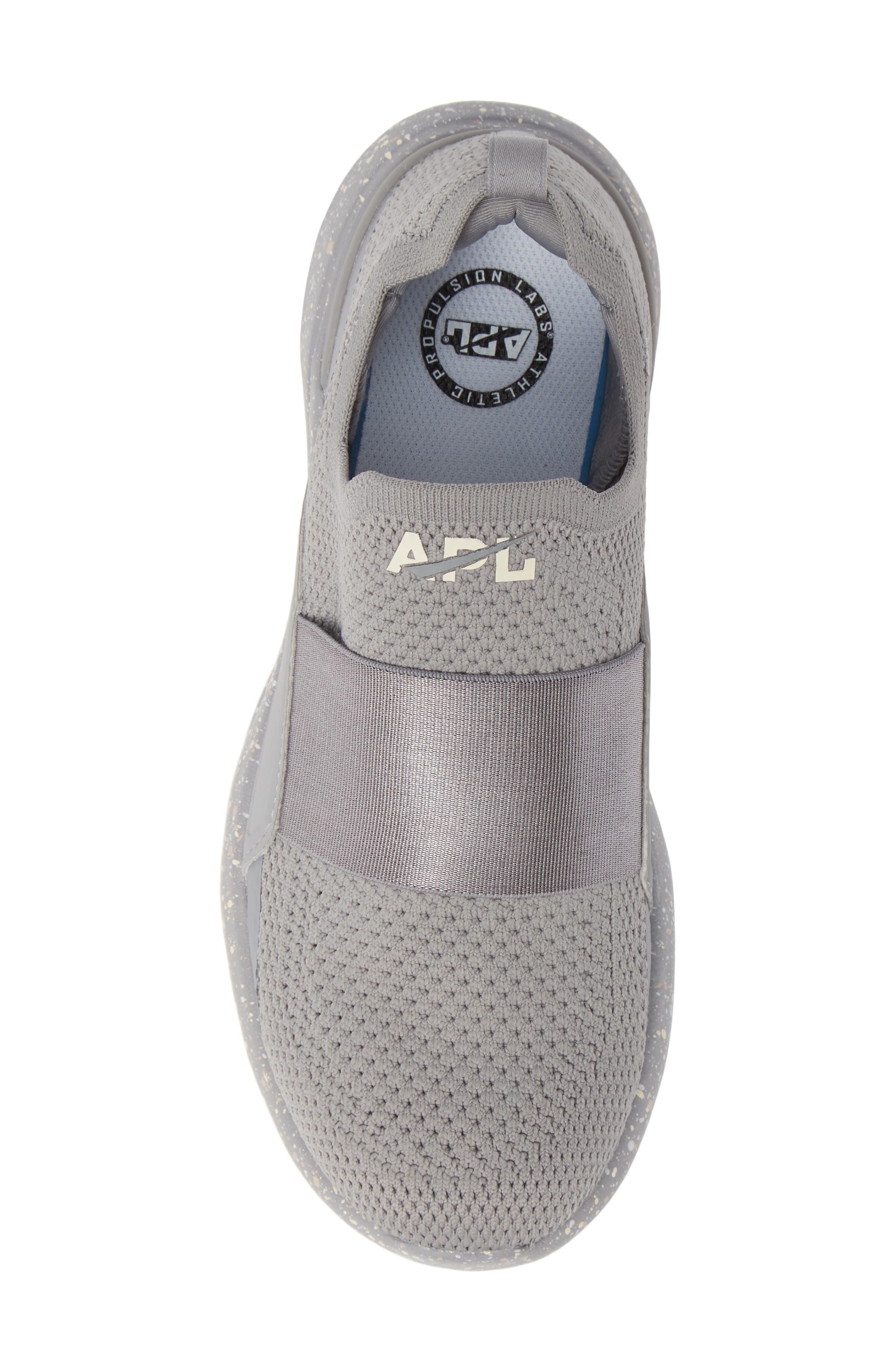 APL,                             Techloom Bliss Knit Running Shoe,                             Alternate thumbnail 5, color,                             CEMENT/ SEA SALT/ CREAM