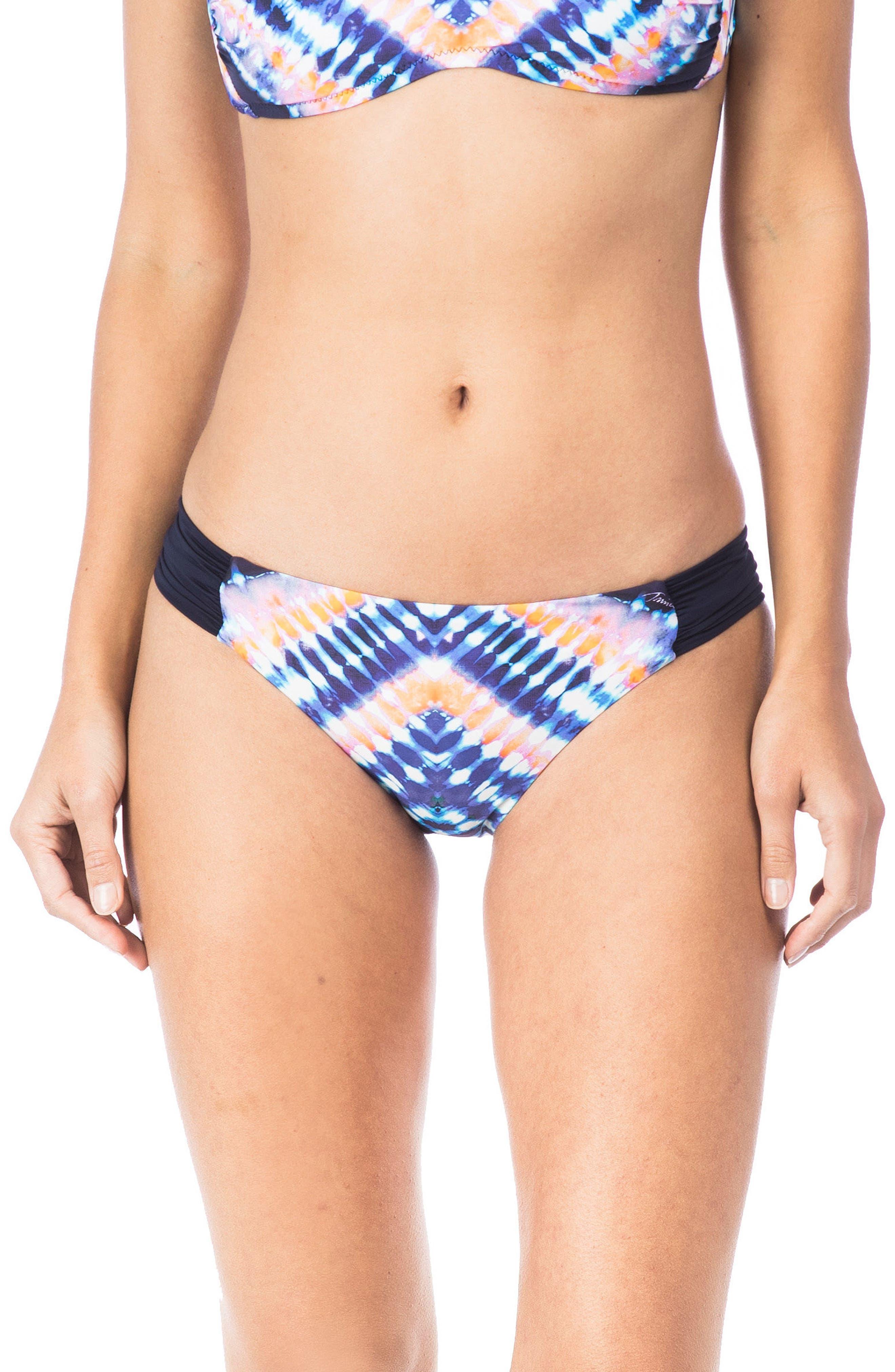 Moonlight Shirred Hipster Bikini Bottoms,                             Main thumbnail 1, color,                             409