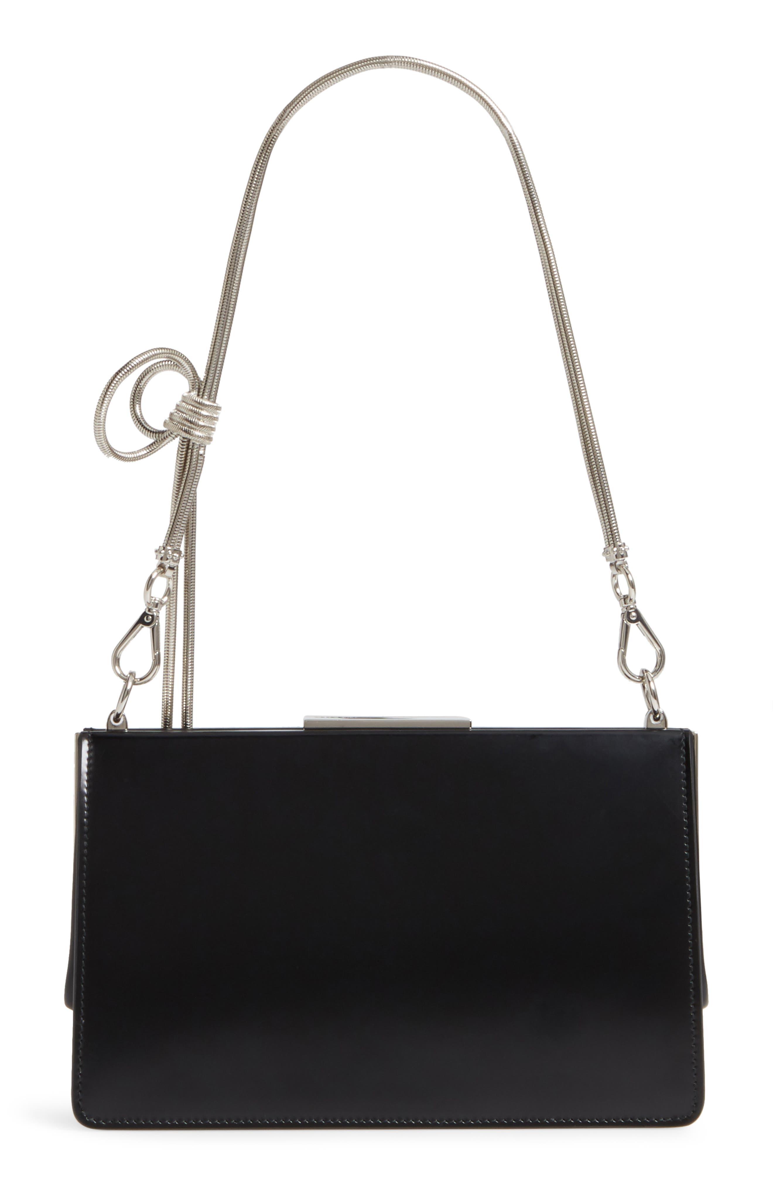 PRADA,                             Spazzolato Calfskin Crossbody Bag,                             Alternate thumbnail 4, color,                             001