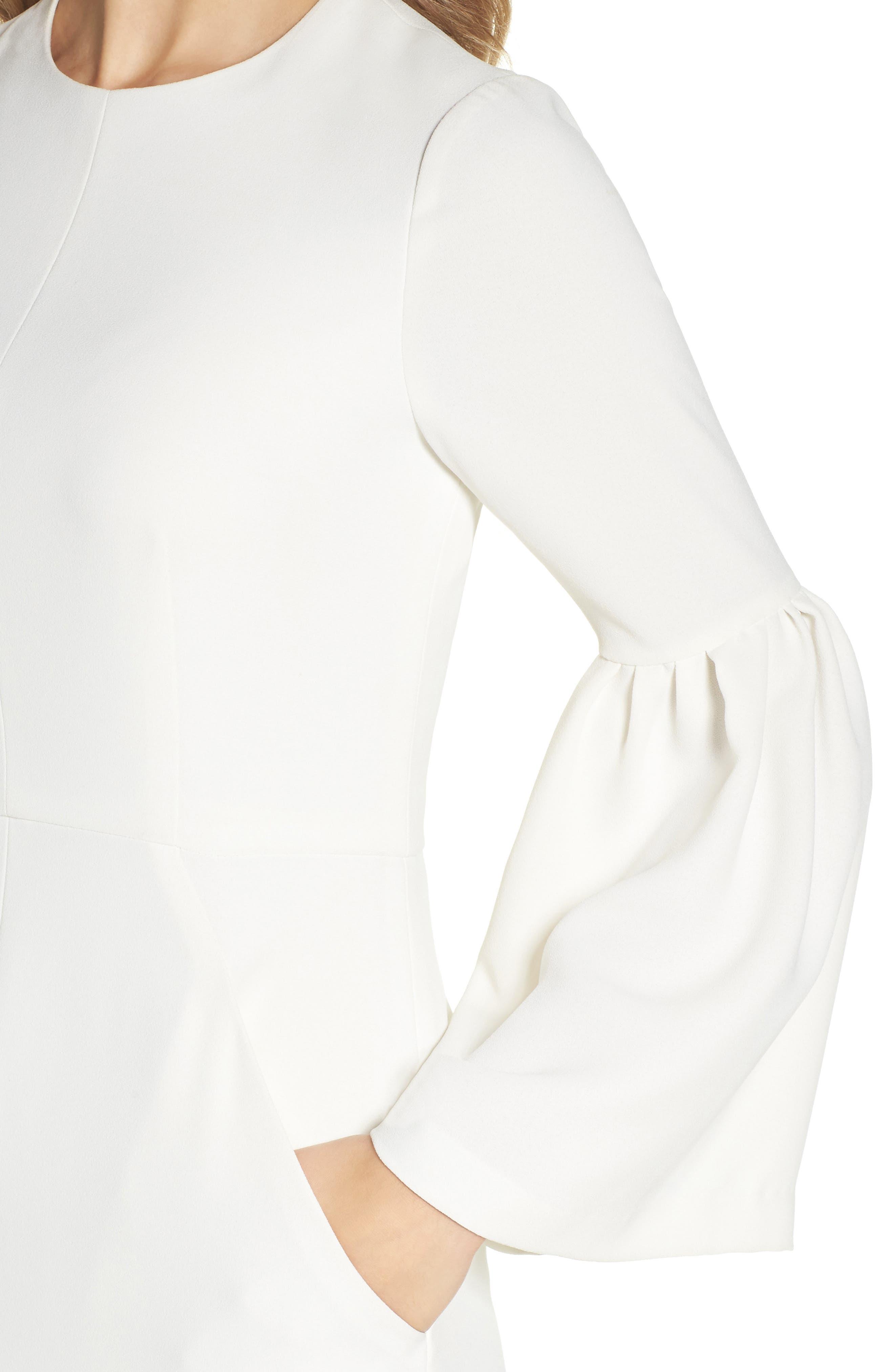Crepe Midi Dress,                             Alternate thumbnail 4, color,