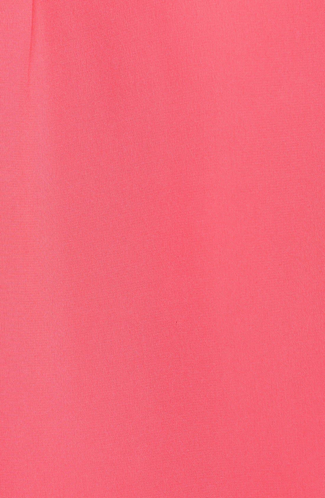 'Slim Signature' Sleeveless Silk Shirt,                             Alternate thumbnail 86, color,