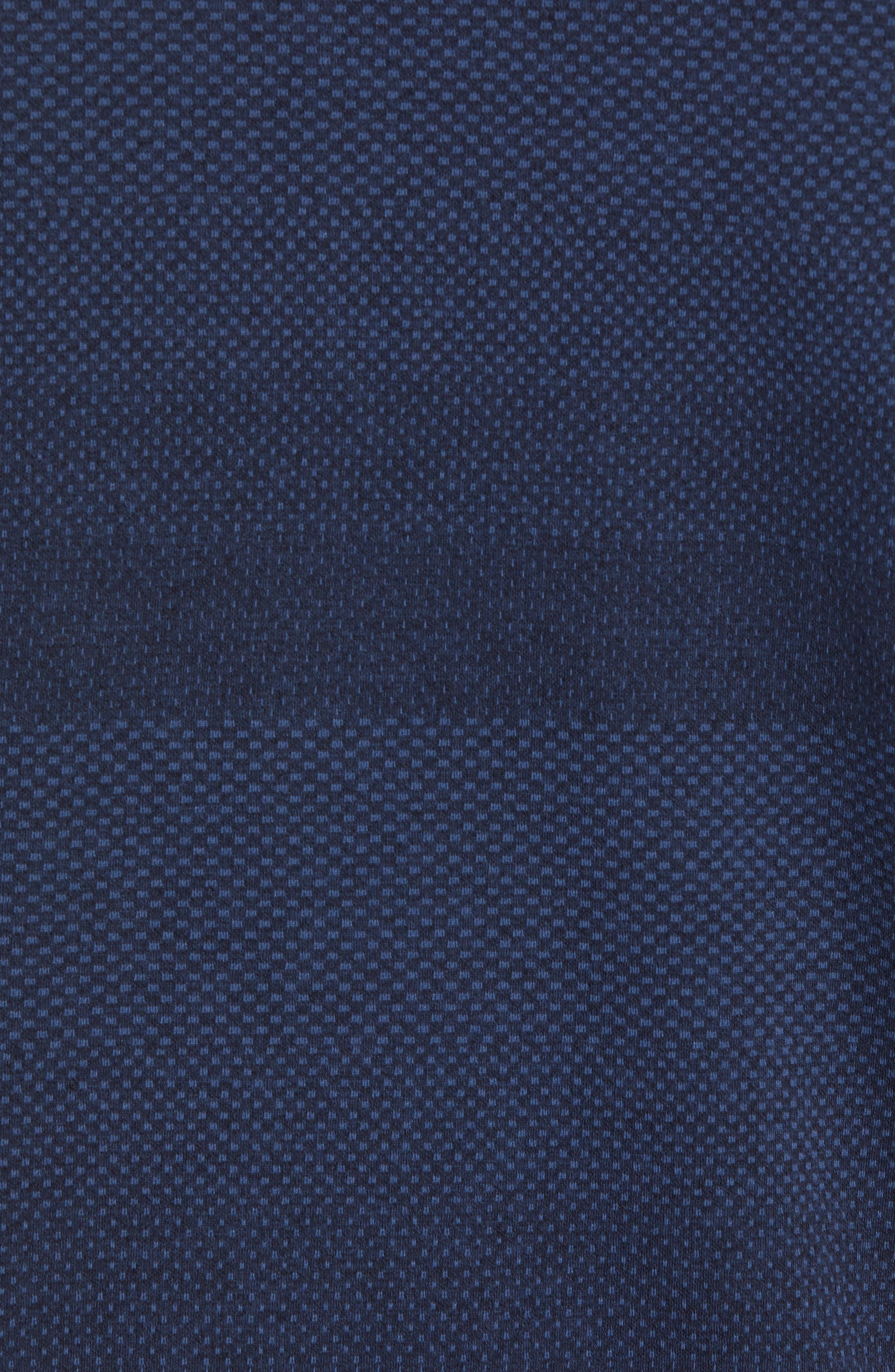 Crescent DryTec Microprint Polo,                             Alternate thumbnail 5, color,                             LIBERTY NAVY