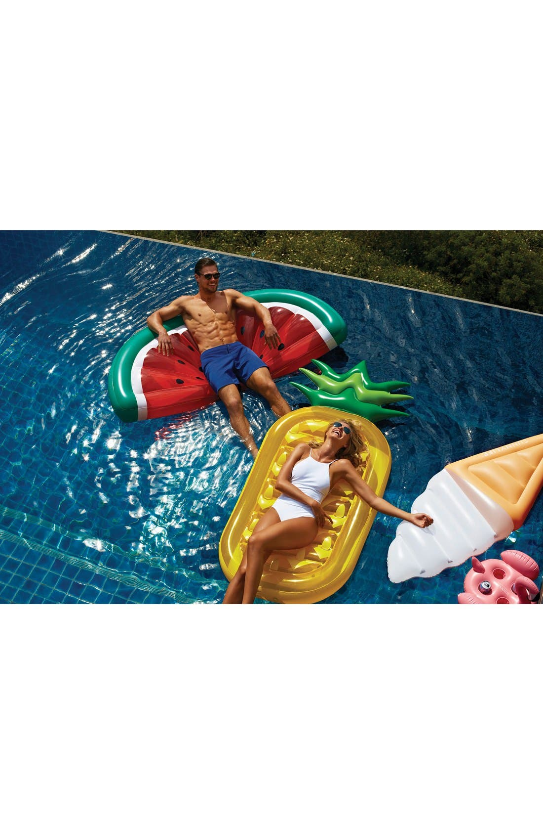 'Really Big' Inflatable Watermelon Pool Float,                             Alternate thumbnail 6, color,