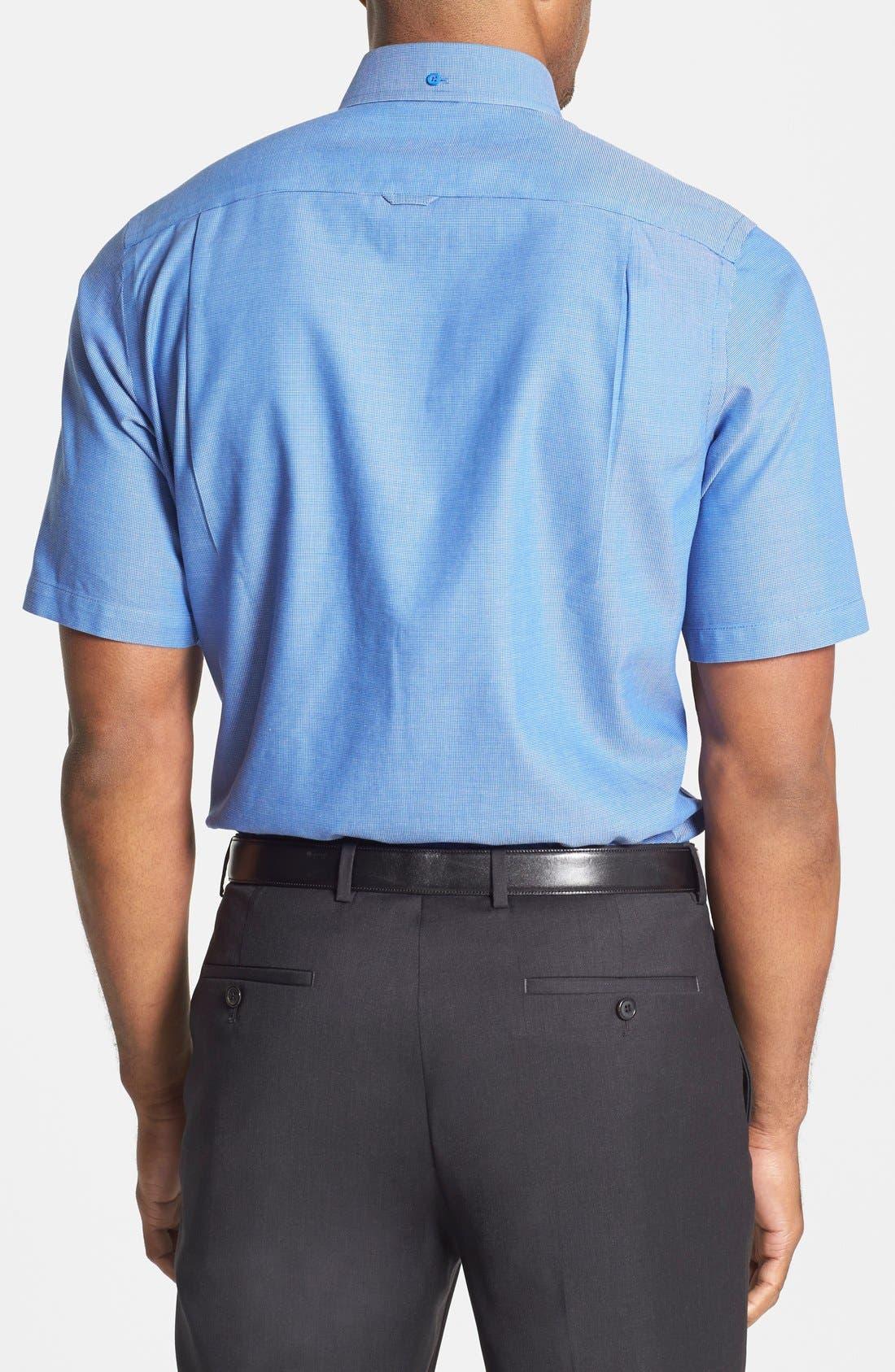 'Classic' Smartcare<sup>™</sup> Regular Fit Short Sleeve Cotton Sport Shirt,                             Alternate thumbnail 31, color,
