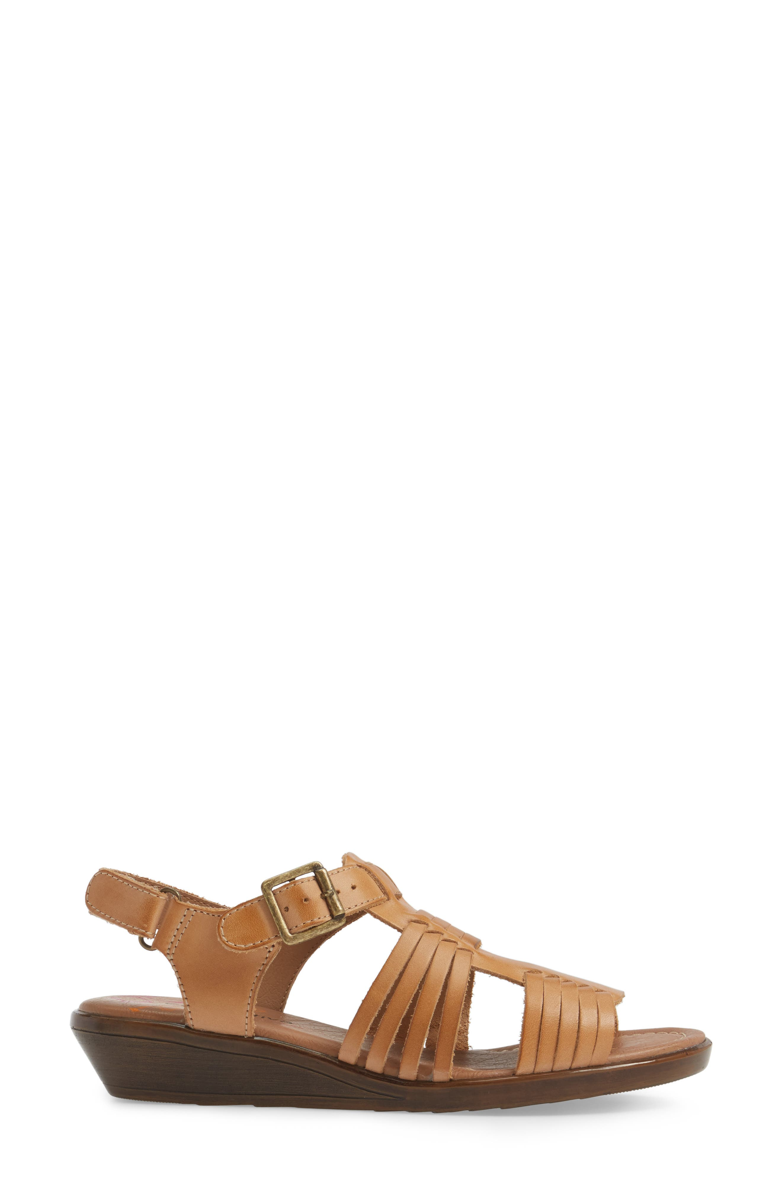 Freeport Sandal,                             Alternate thumbnail 3, color,                             NATURAL LEATHER