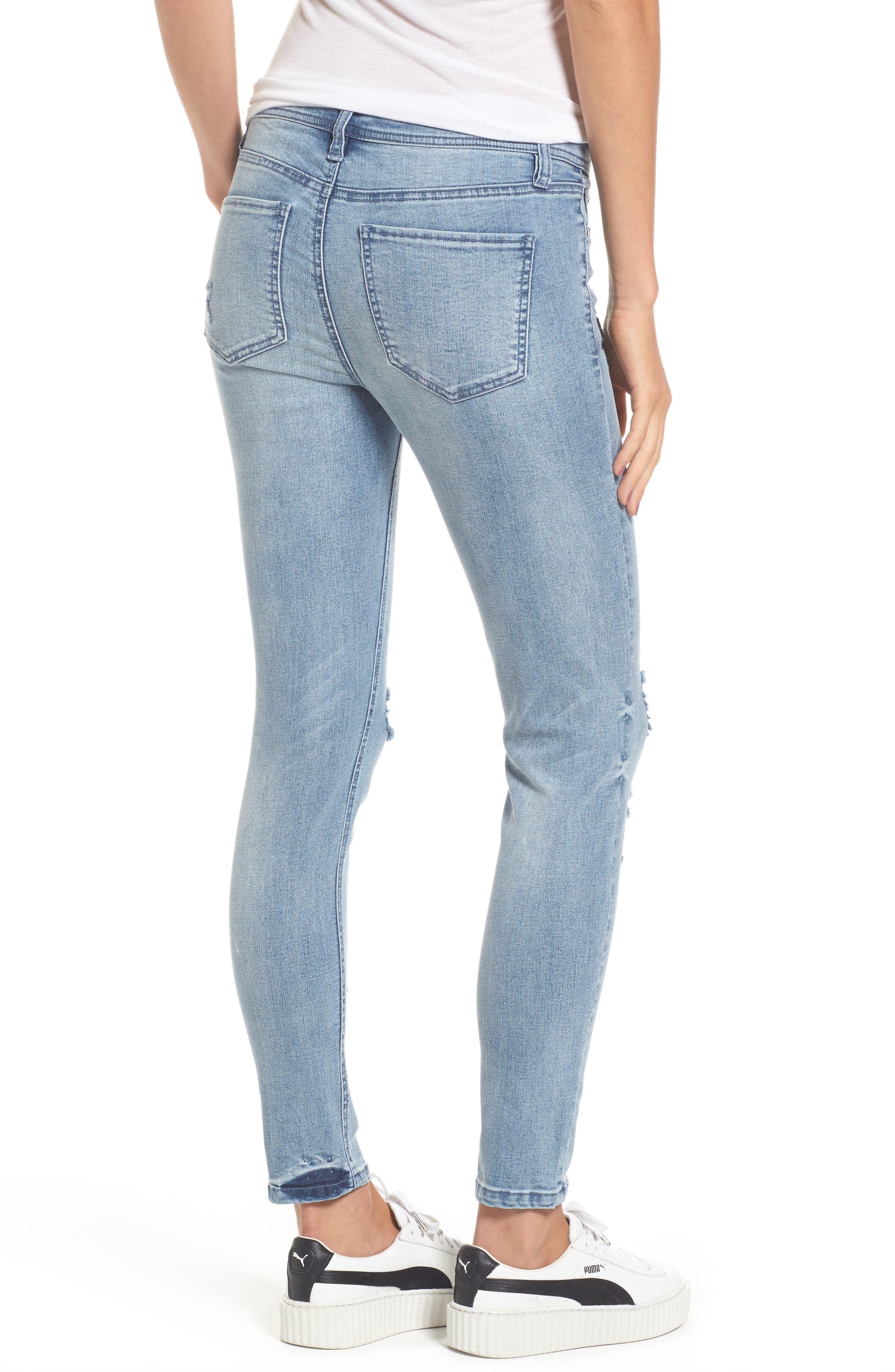 Star Embellished Skinny Jeans,                             Alternate thumbnail 2, color,                             432