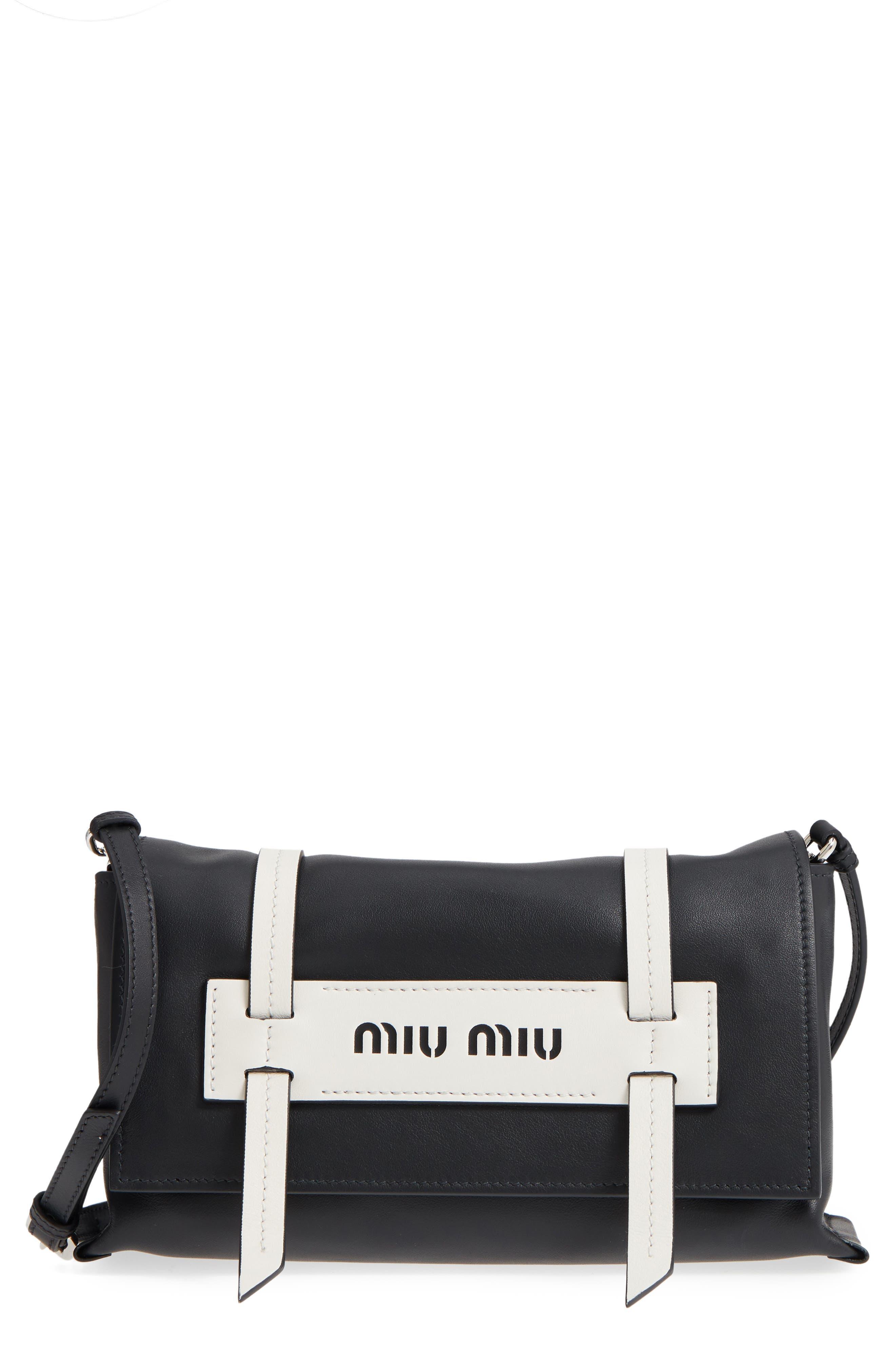 Small Grace Calfskin Shoulder Bag,                         Main,                         color, NERO/ BIANCO
