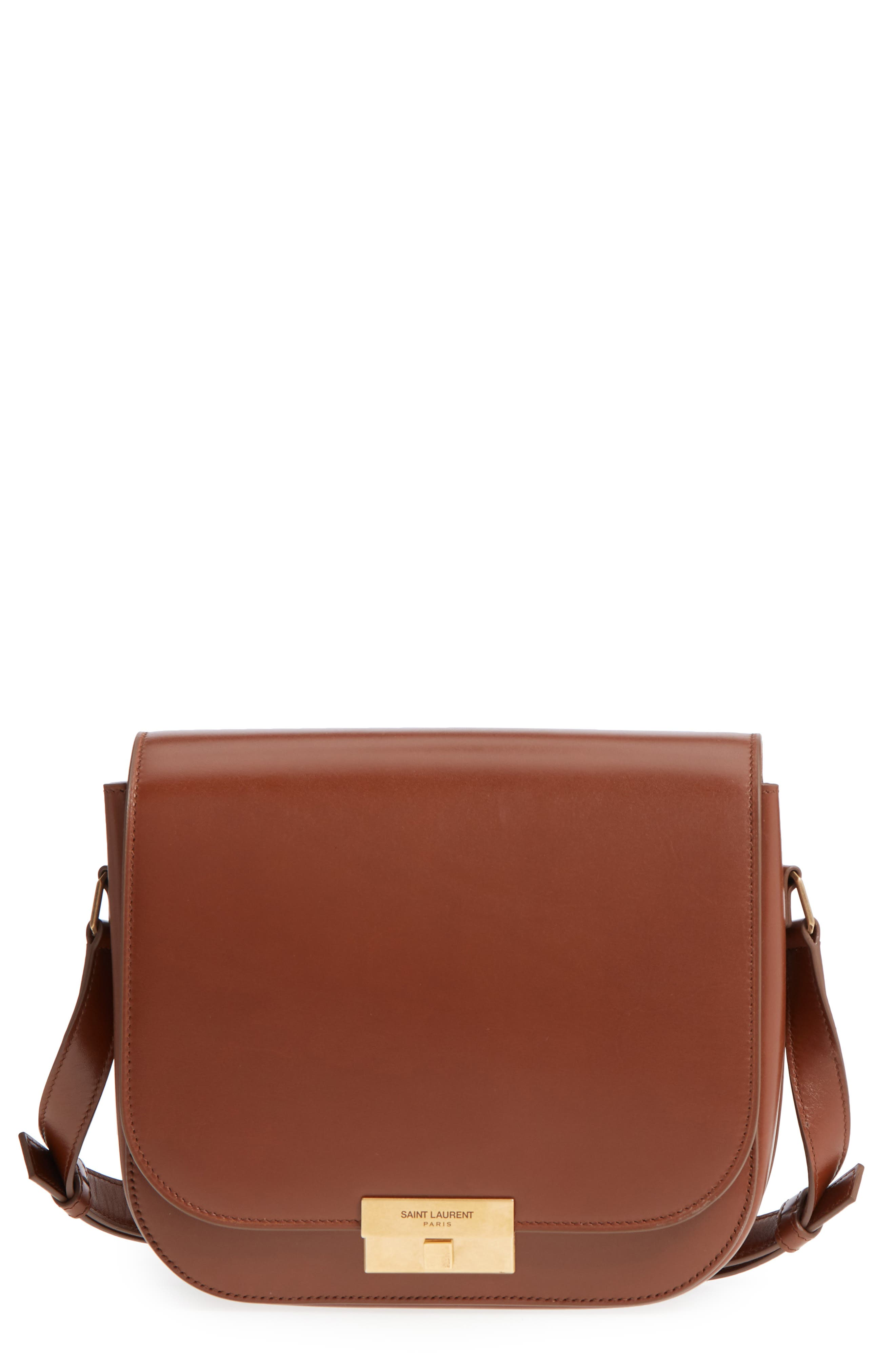 Betty Leather Shoulder Bag in Brown
