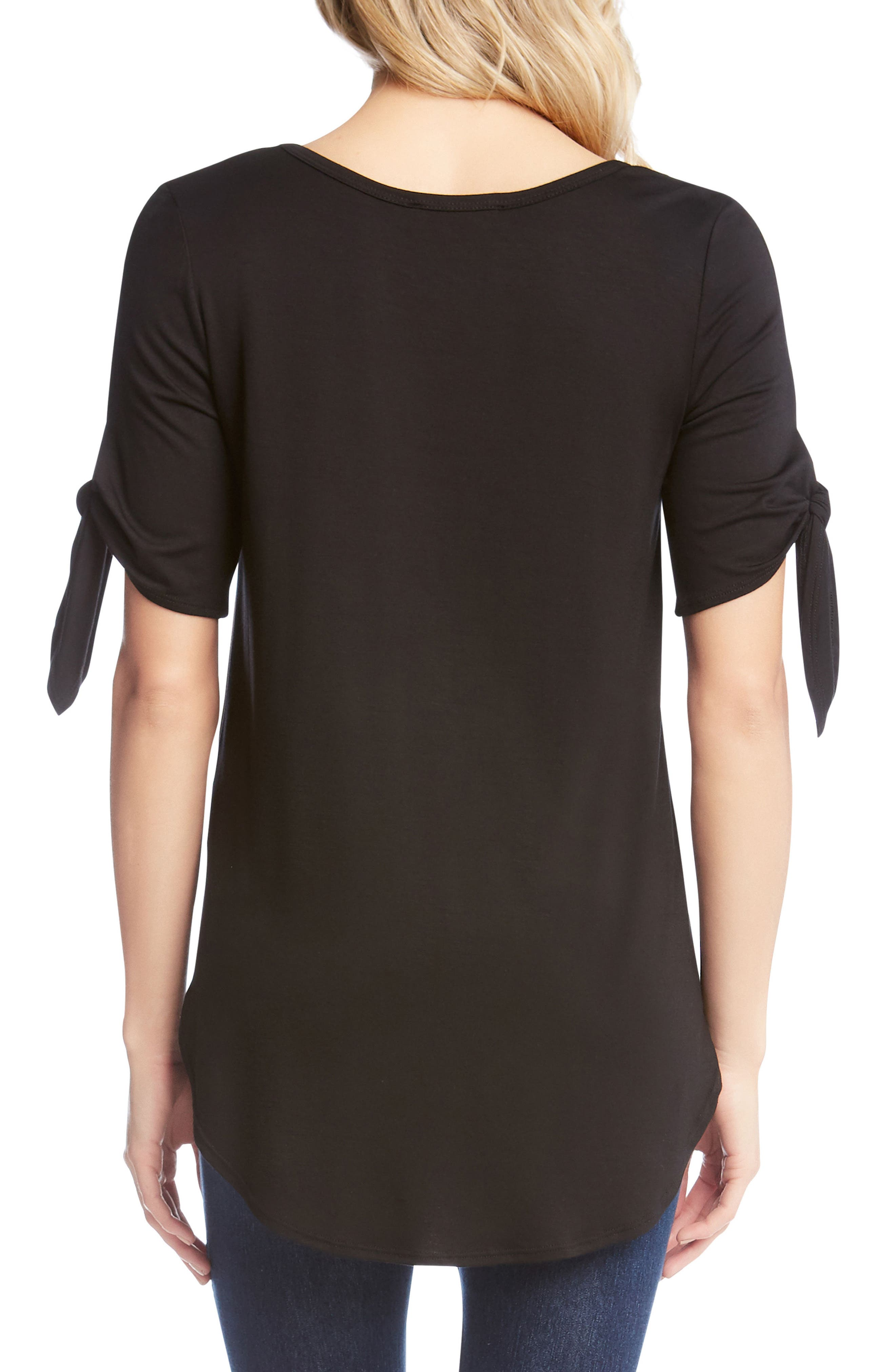Knot Sleeve Top,                             Alternate thumbnail 2, color,                             001