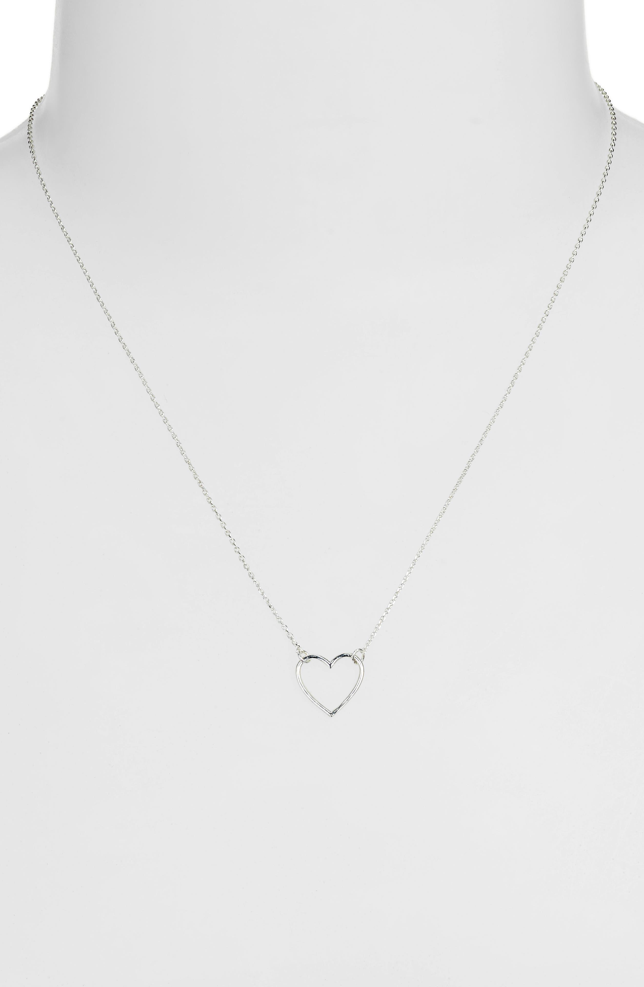 Open Heart Necklace,                             Alternate thumbnail 2, color,                             040