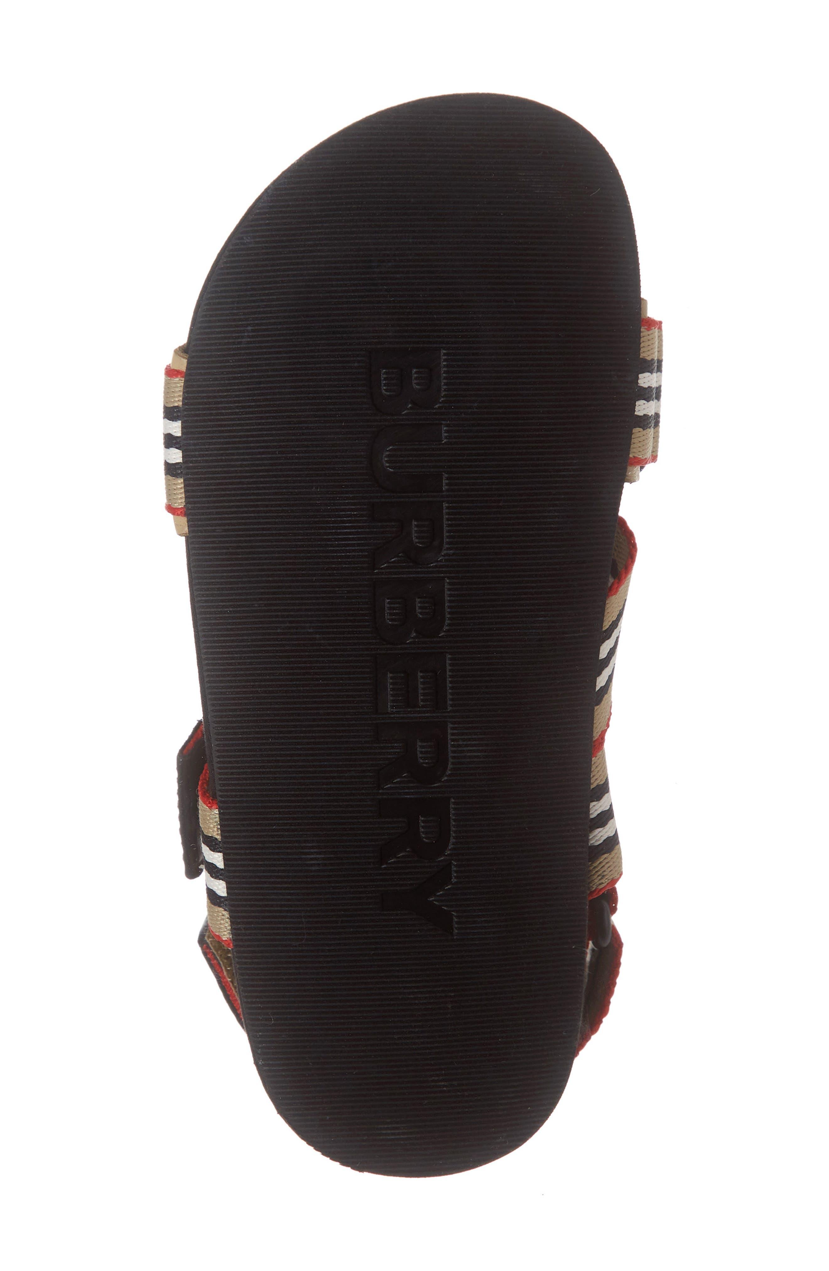 BURBERRY,                             Redmire Sandal,                             Alternate thumbnail 6, color,                             ARCH BEIGE/BLACK