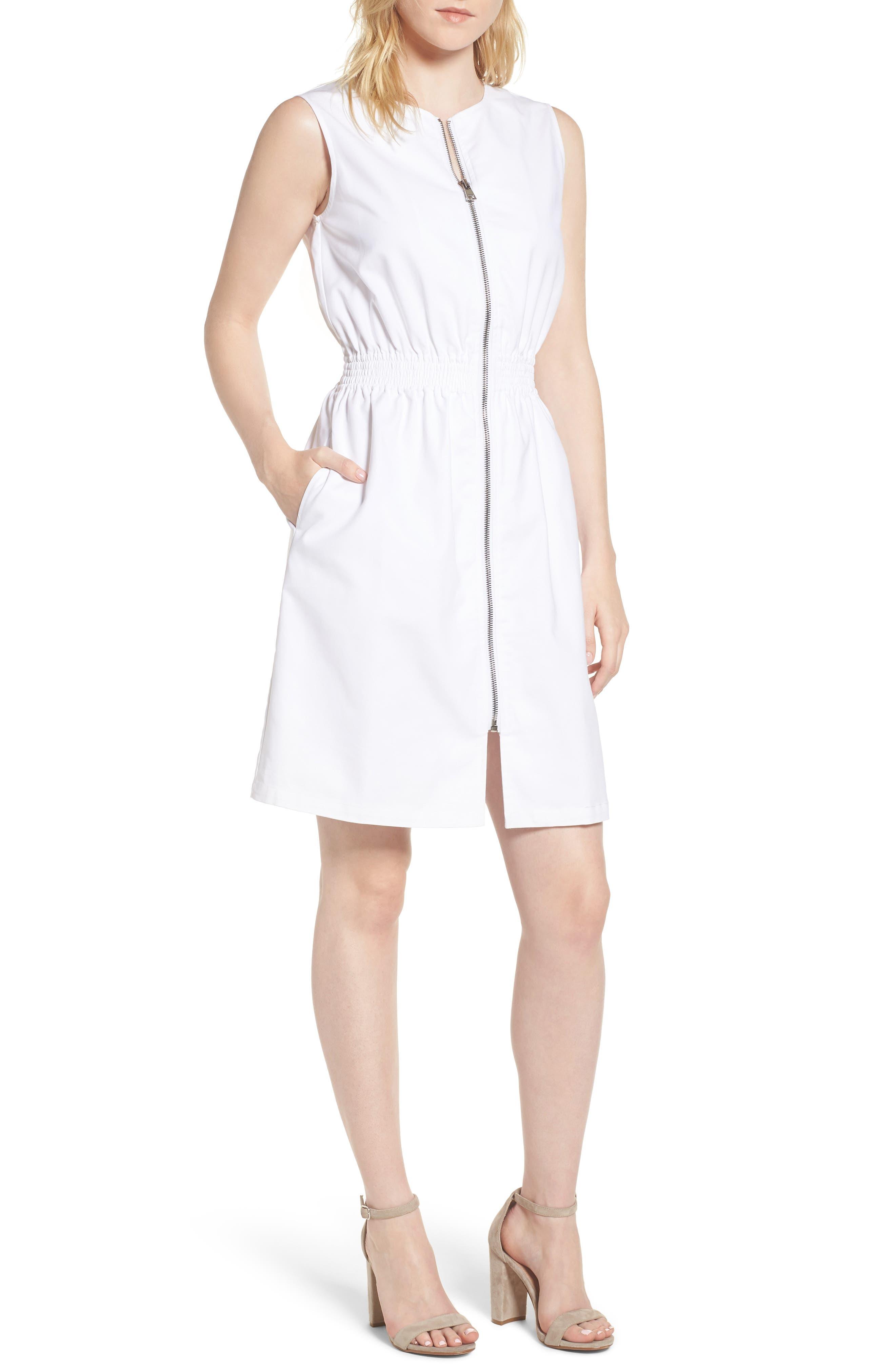 Astoria Zip Front Dress,                             Main thumbnail 1, color,                             100