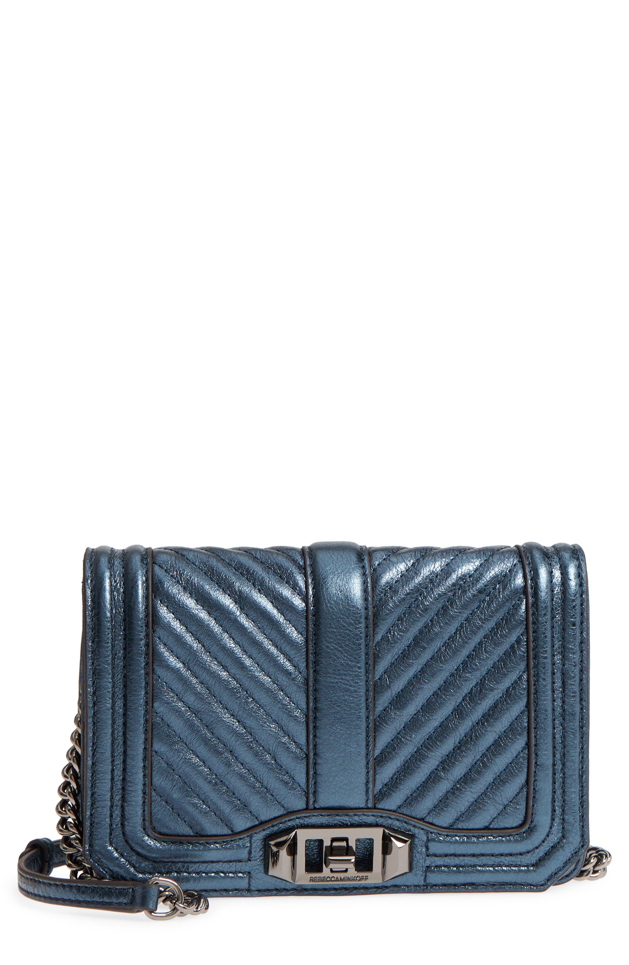 Small Love Metallic Leather Crossbody Bag,                             Main thumbnail 2, color,