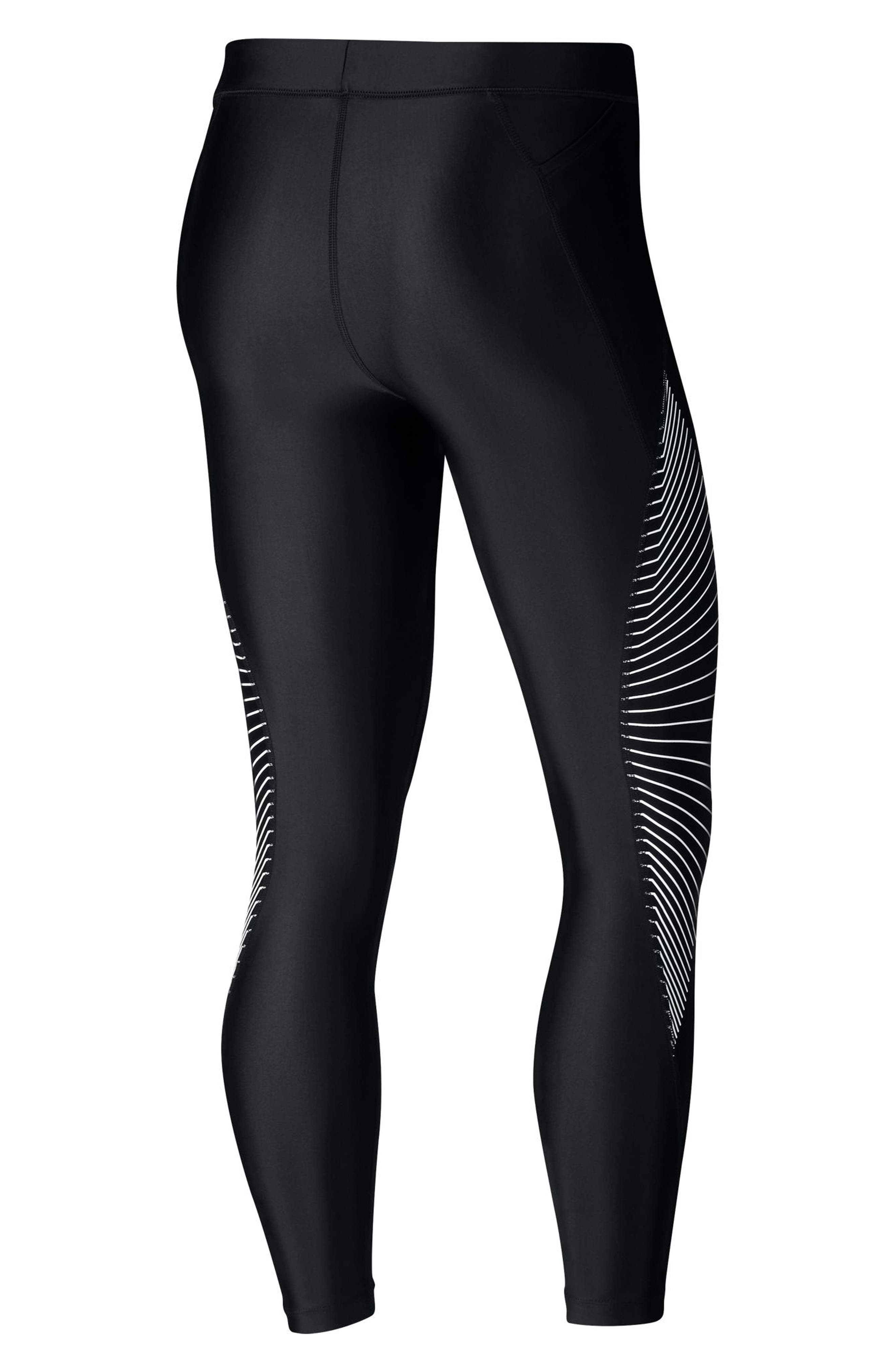 Power Speed 7/8 Women's Graphic Running Tights,                             Alternate thumbnail 2, color,                             010