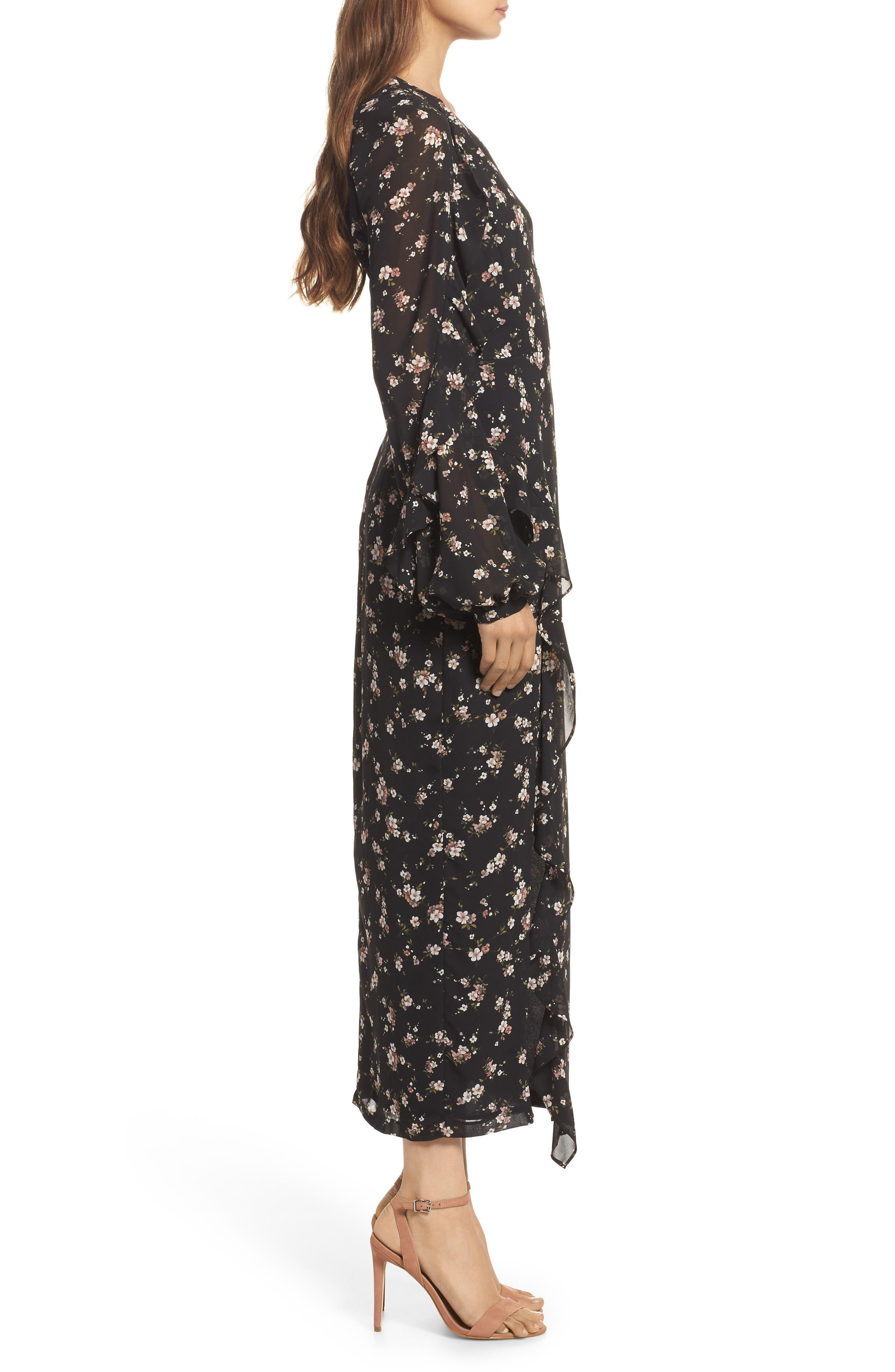 Natalia Midi Dress,                             Alternate thumbnail 3, color,                             005