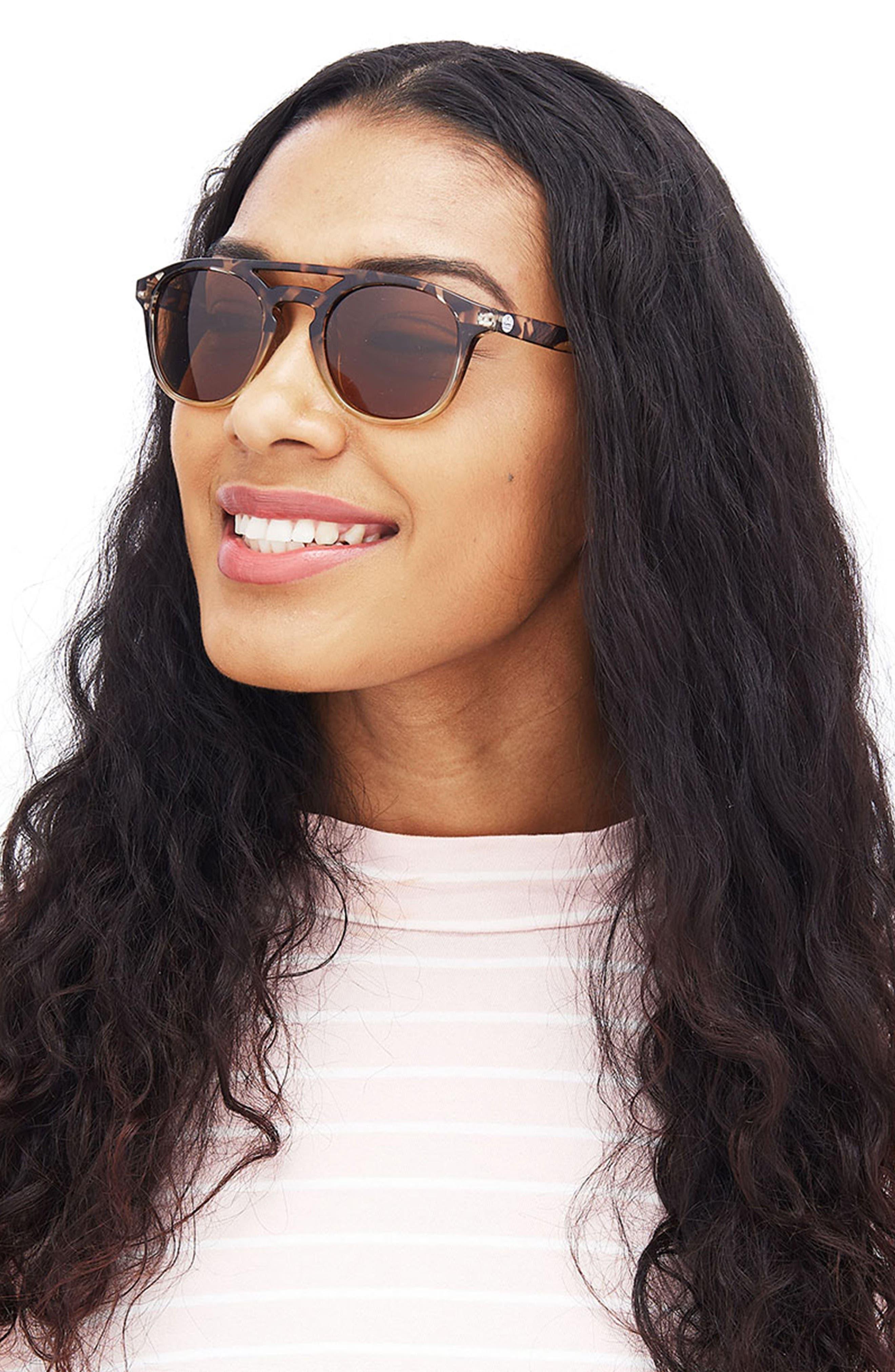 Olema 53mm Polarized Sunglasses,                             Alternate thumbnail 3, color,                             TORTOISE AMBER