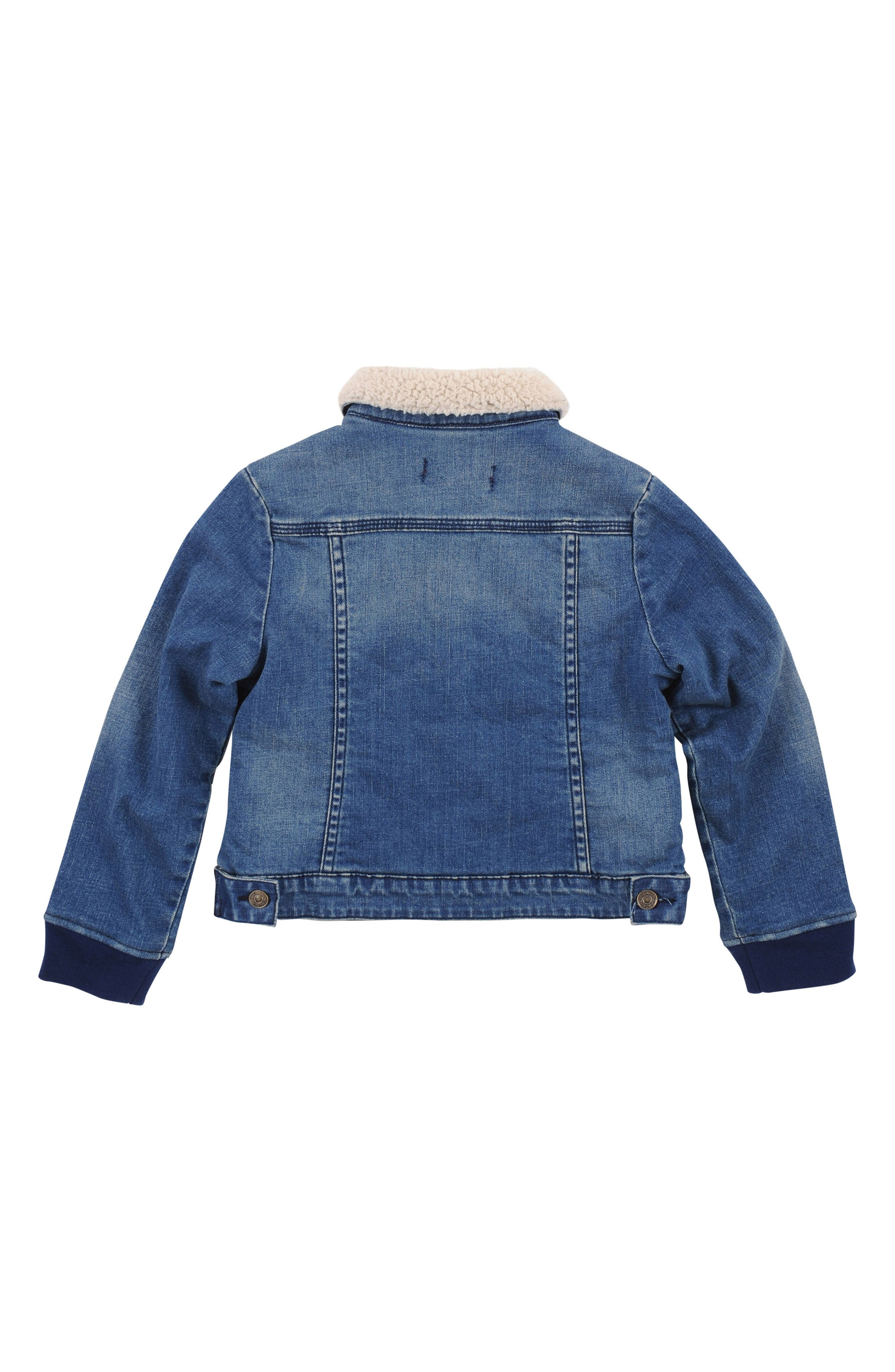 Fleece Lined Denim Jacket,                             Alternate thumbnail 2, color,                             244