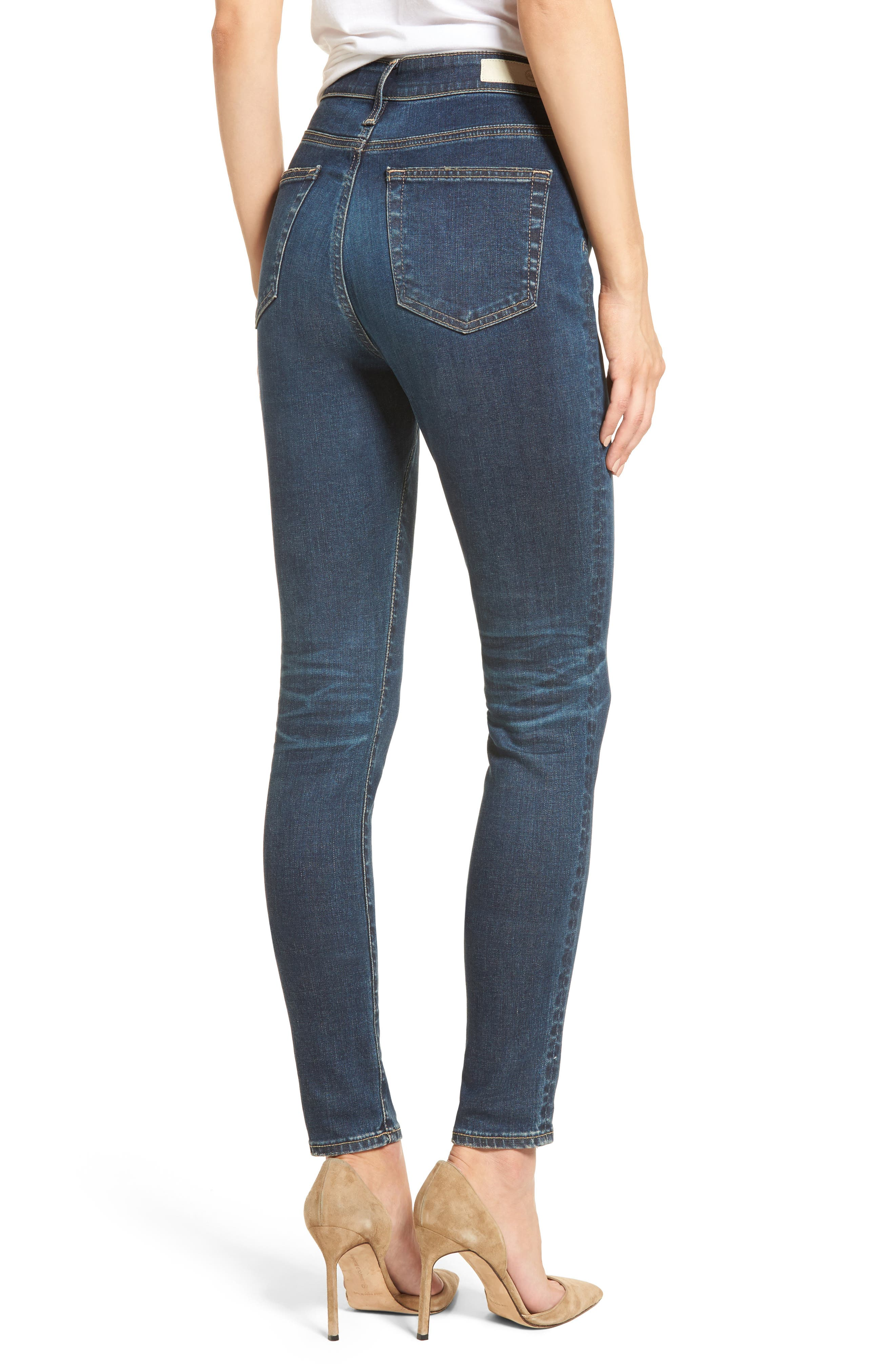 Mila High Rise Skinny Jeans,                             Alternate thumbnail 2, color,                             411