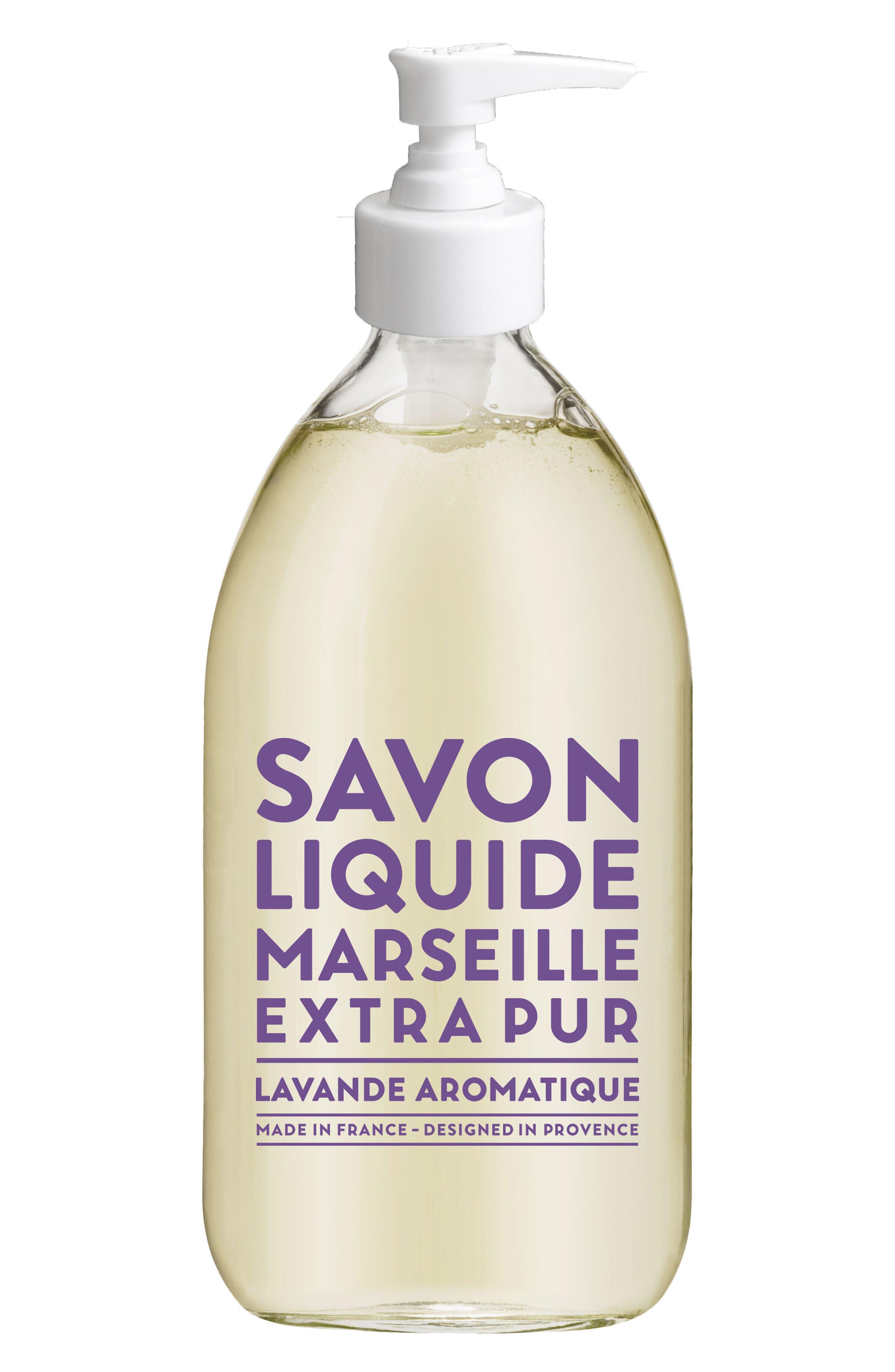 Aromatic Lavender Liquid Marseille Soap,                             Main thumbnail 1, color,