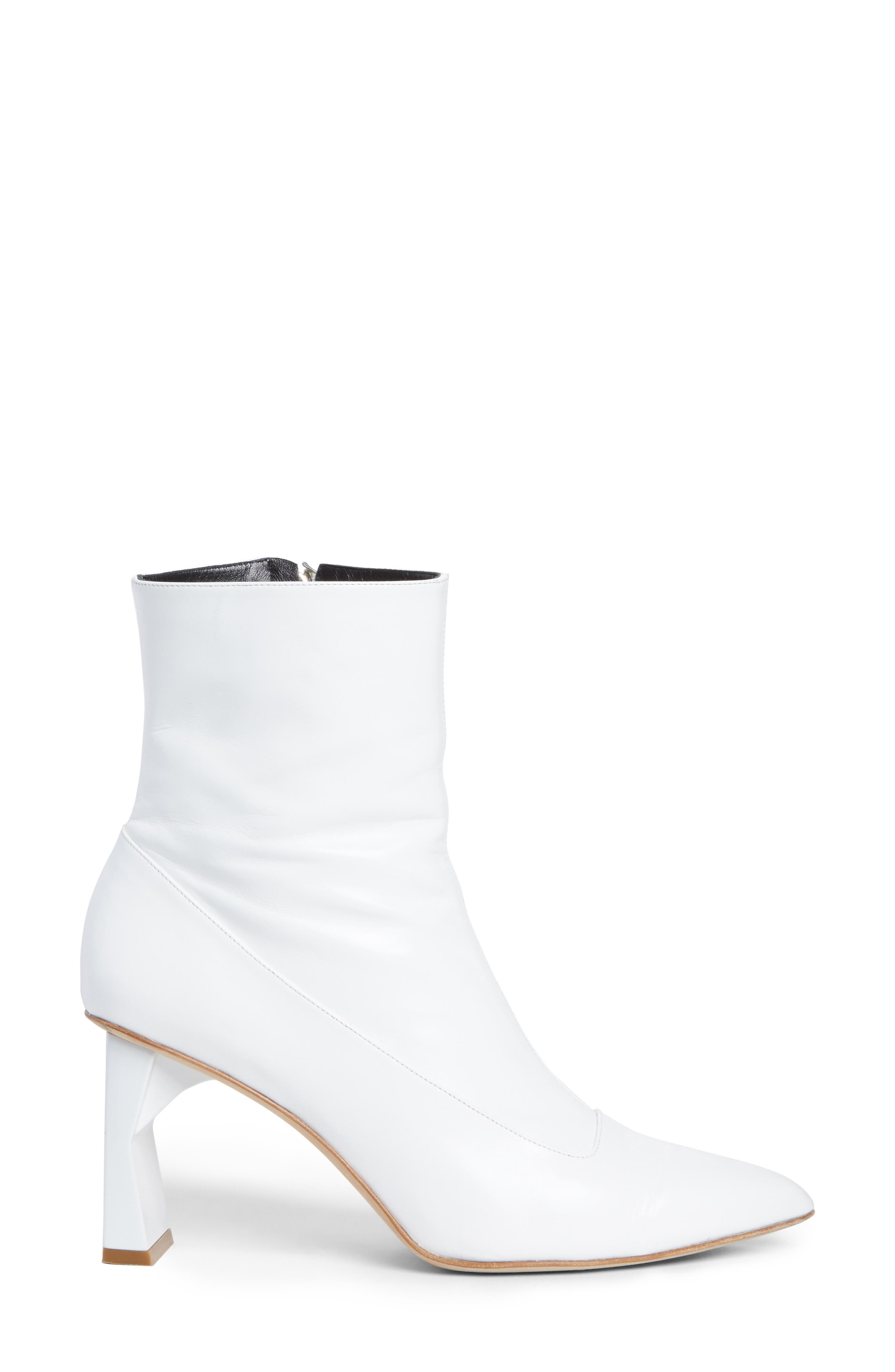 Alexis Pointy Toe Bootie,                             Alternate thumbnail 3, color,                             100