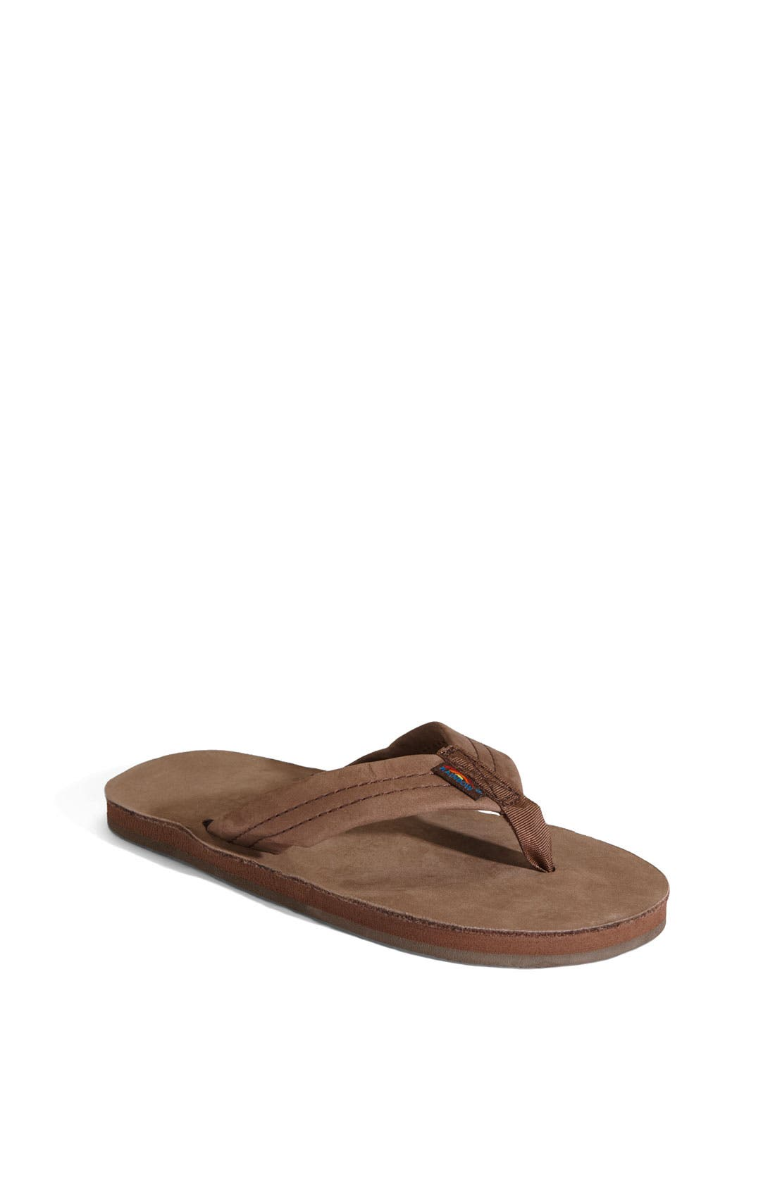 Leather Sandal,                         Main,                         color, EXPRESSO