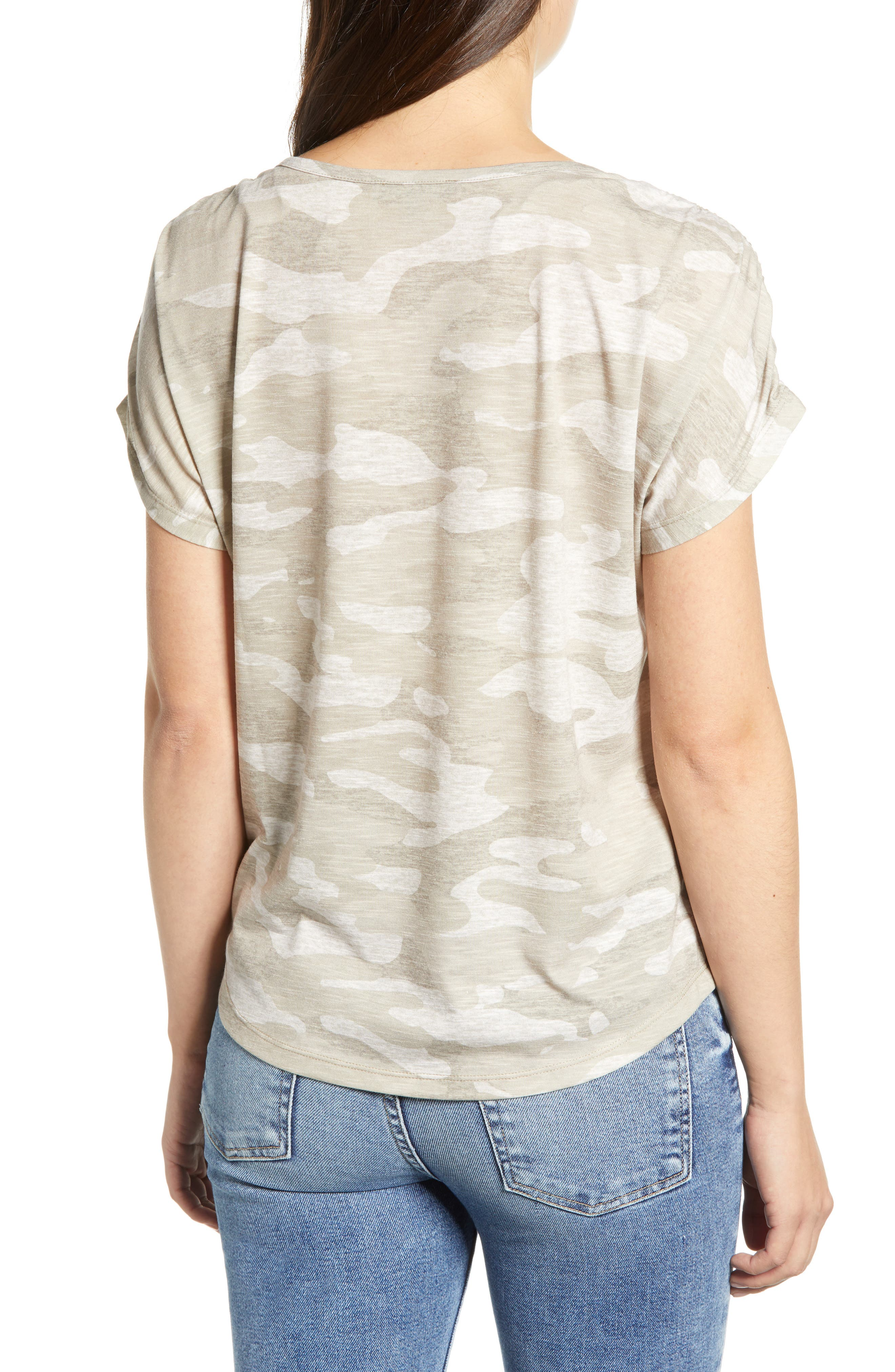 Scoop Neck Tee,                             Alternate thumbnail 2, color,                             TAN