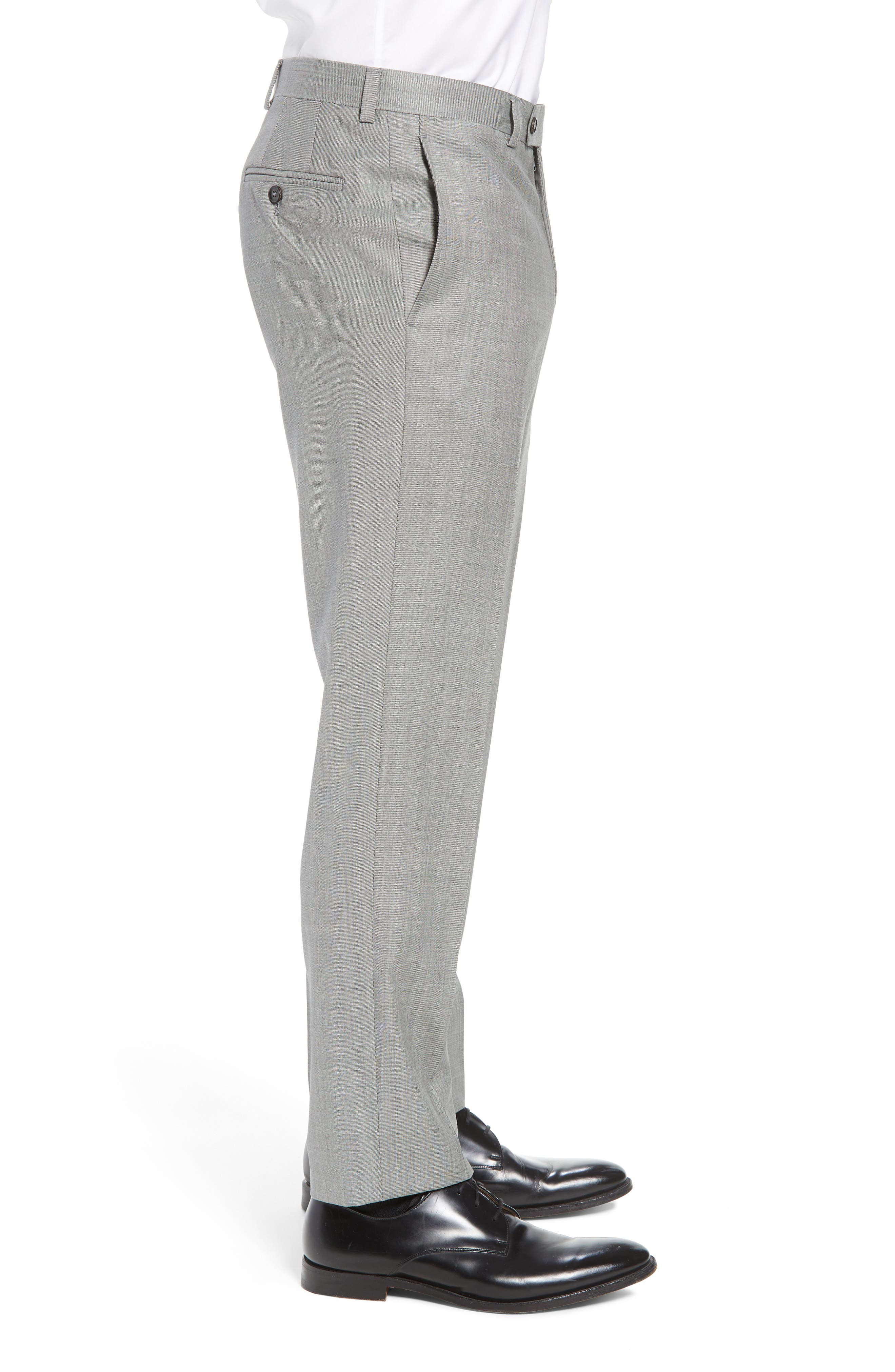Jefferson Flat Front Wool Trousers,                             Alternate thumbnail 26, color,