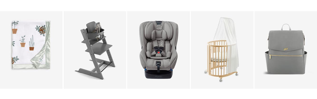 Baby gear and essentials.