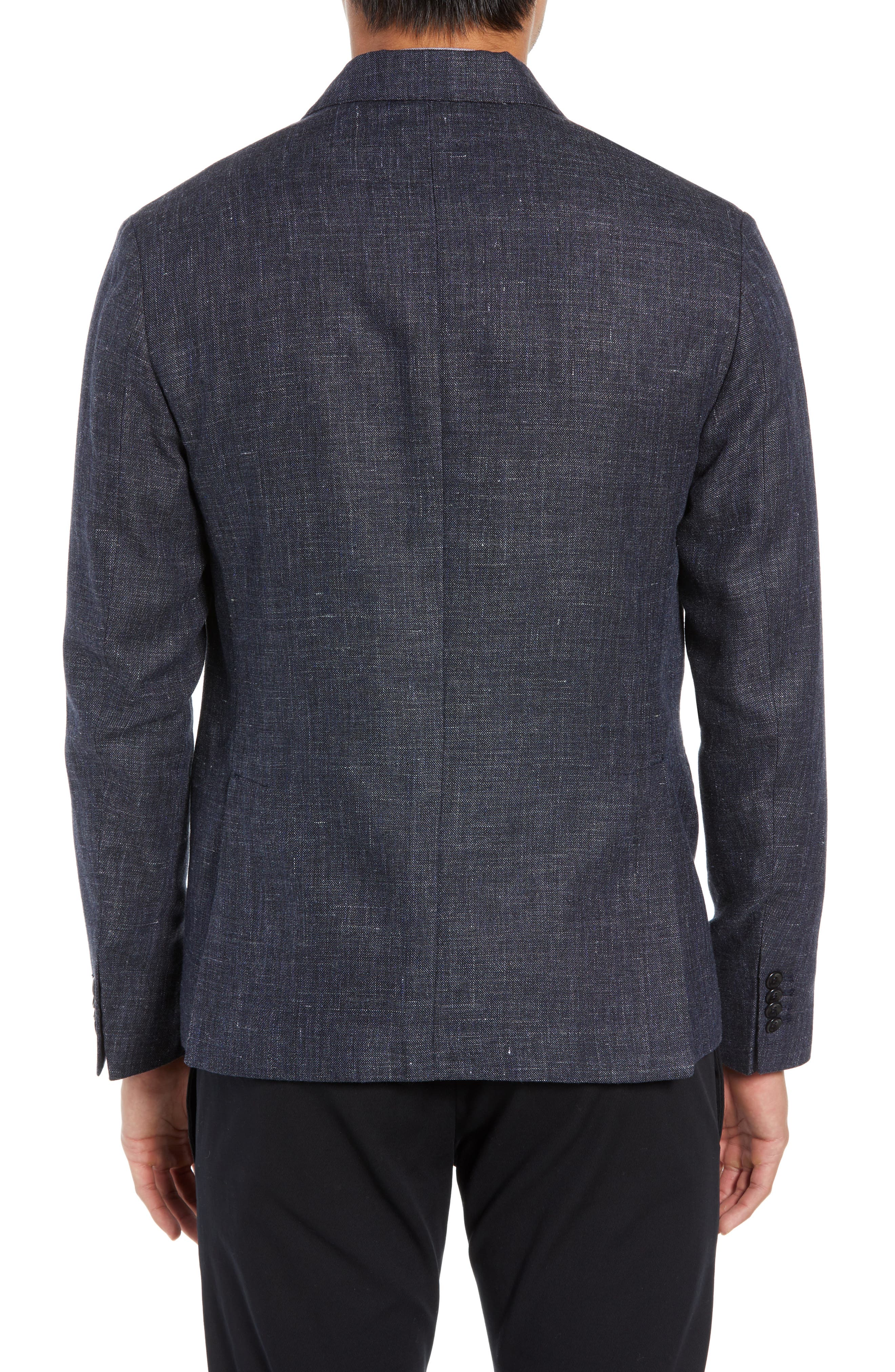 Slim Fit Unconstructed Wool & Linen Blazer,                             Alternate thumbnail 2, color,                             410