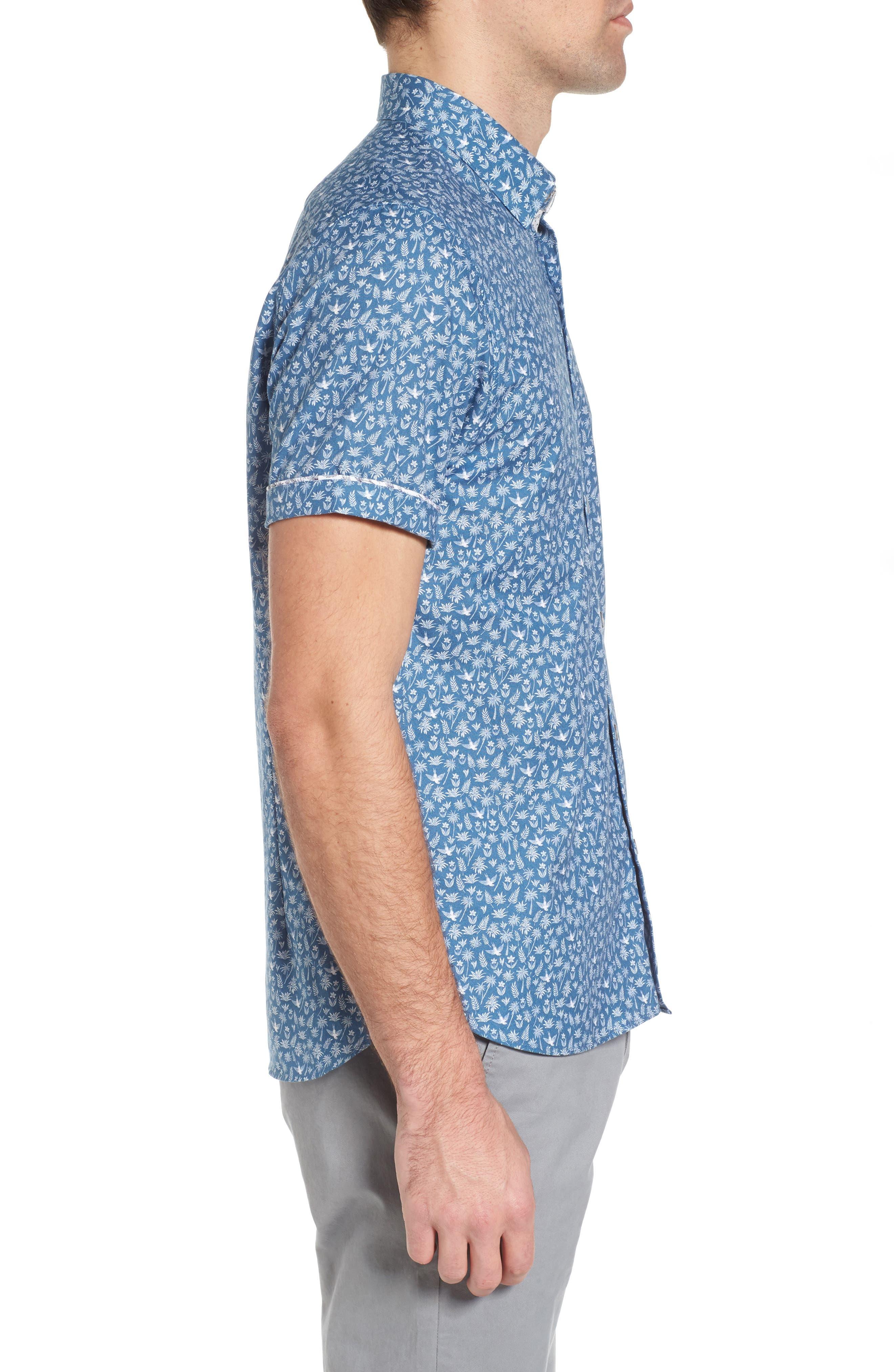 Pazta Tropic Print Shirt,                             Alternate thumbnail 3, color,                             400