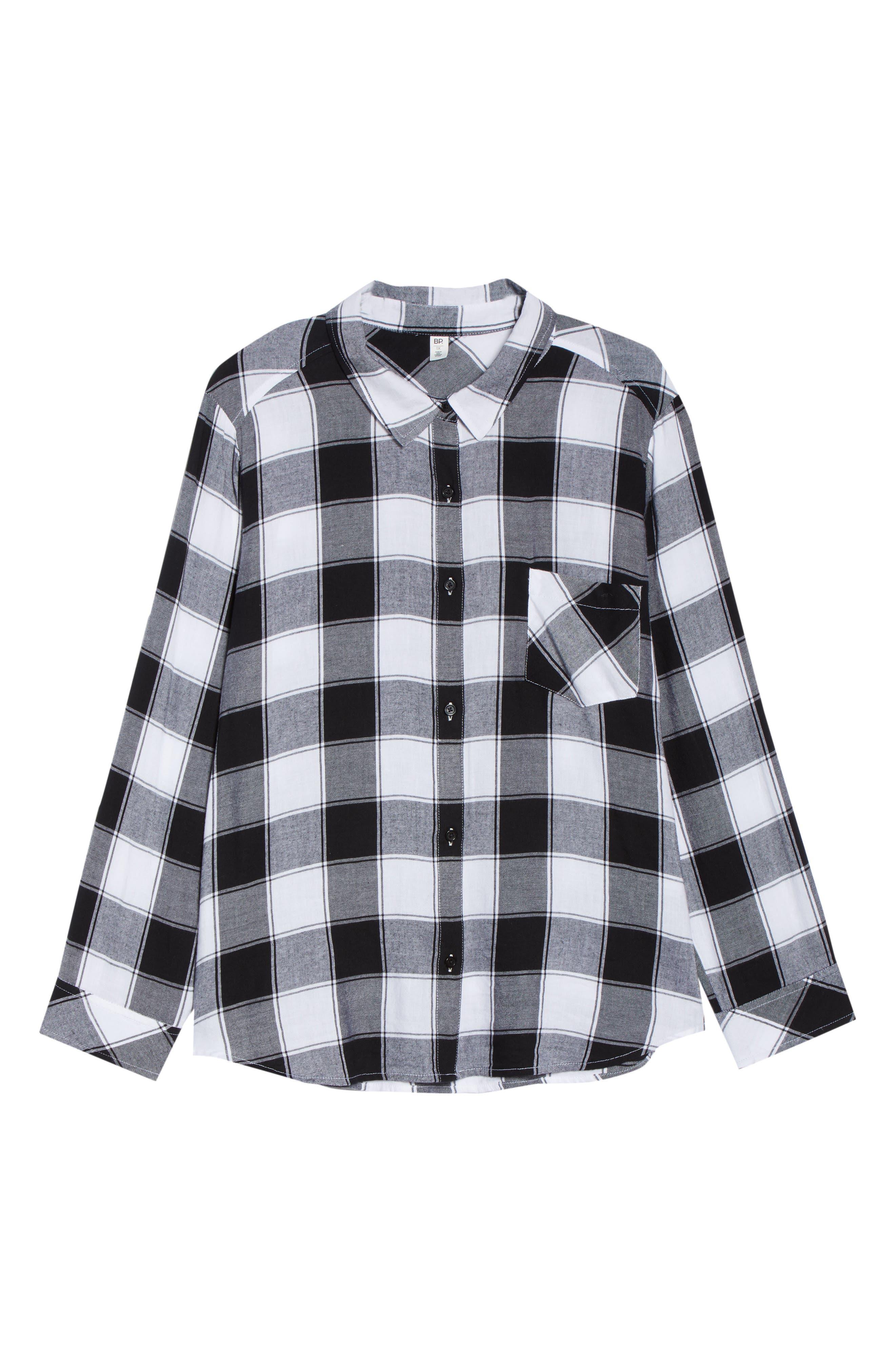 Plaid Shirt,                             Alternate thumbnail 6, color,                             BLACK DALEY PLAID