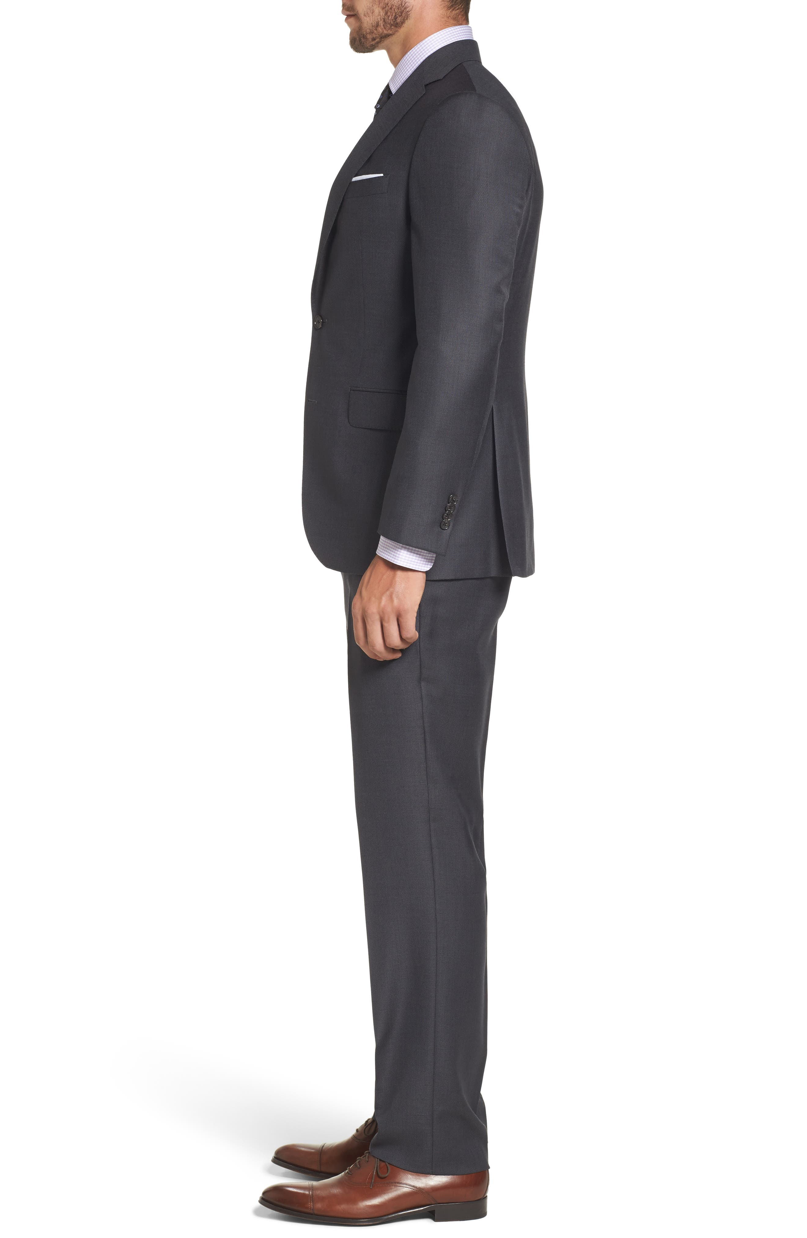 Ryan Classic Fit Solid Wool Suit,                             Alternate thumbnail 3, color,                             010