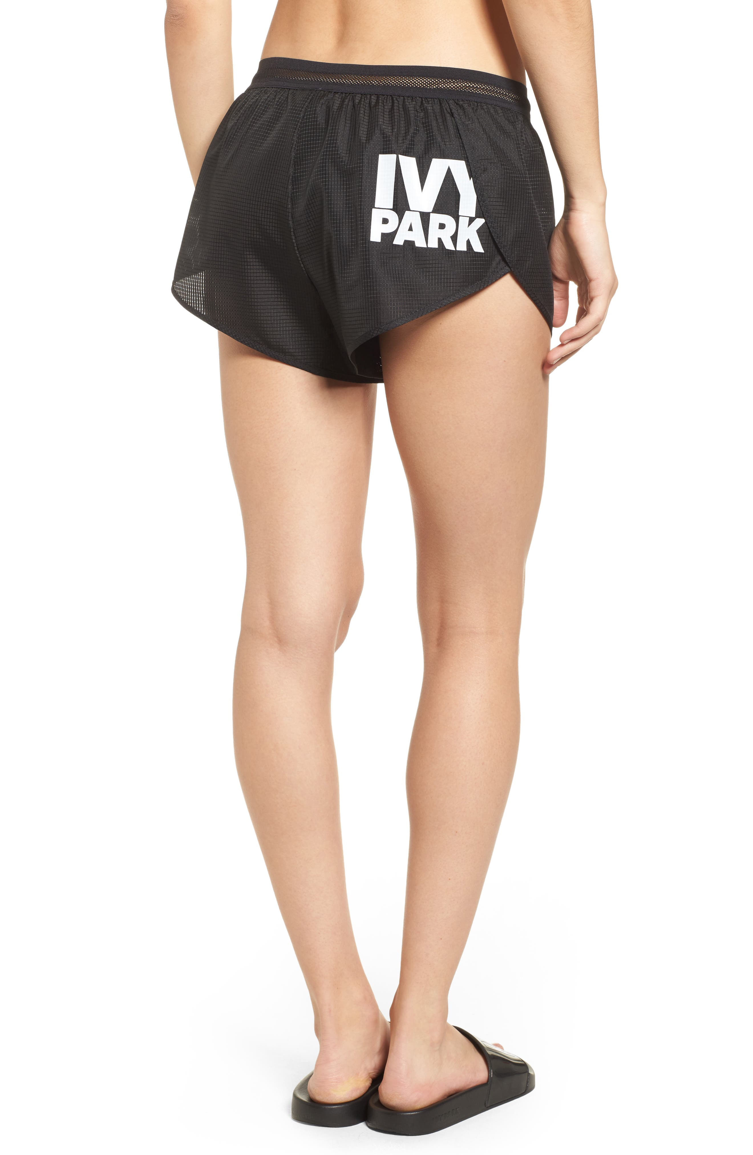 Logo Perforated Runner Shorts,                             Alternate thumbnail 2, color,                             001