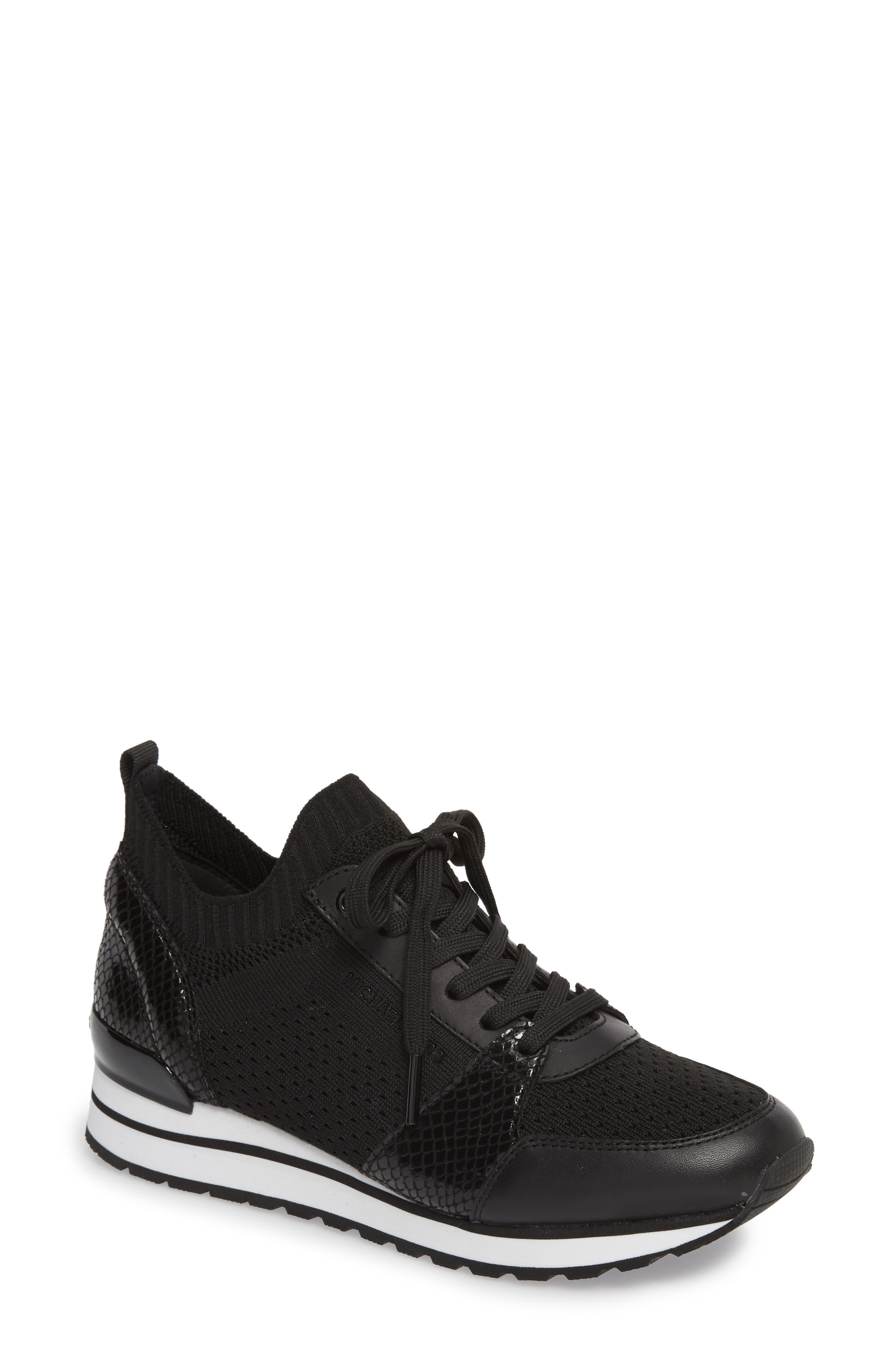 Billie Perforated Sneaker,                             Main thumbnail 1, color,                             002