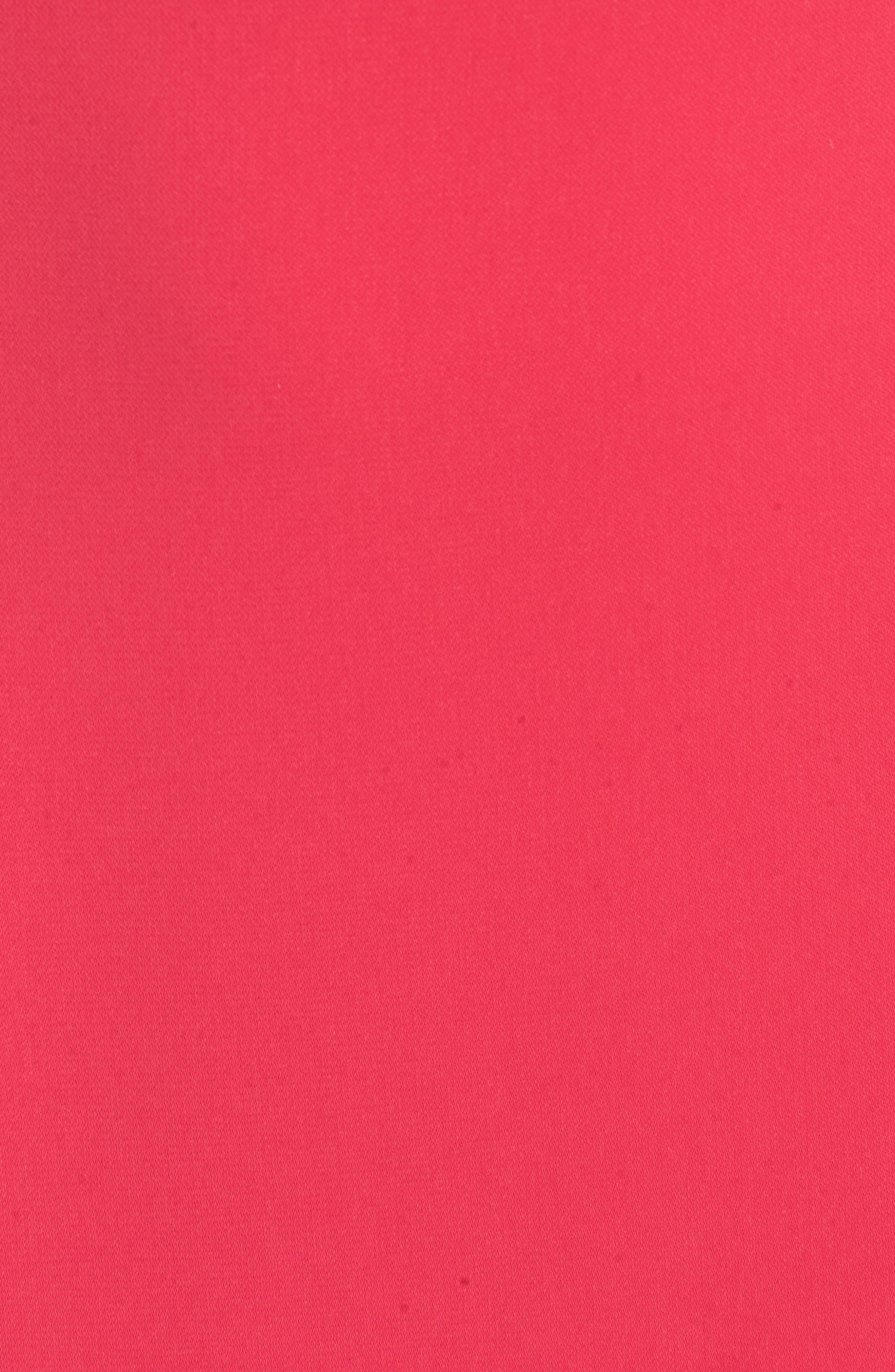 Asymmetric Ruffle Hem Dress,                             Alternate thumbnail 6, color,                             PINK BRIGHT