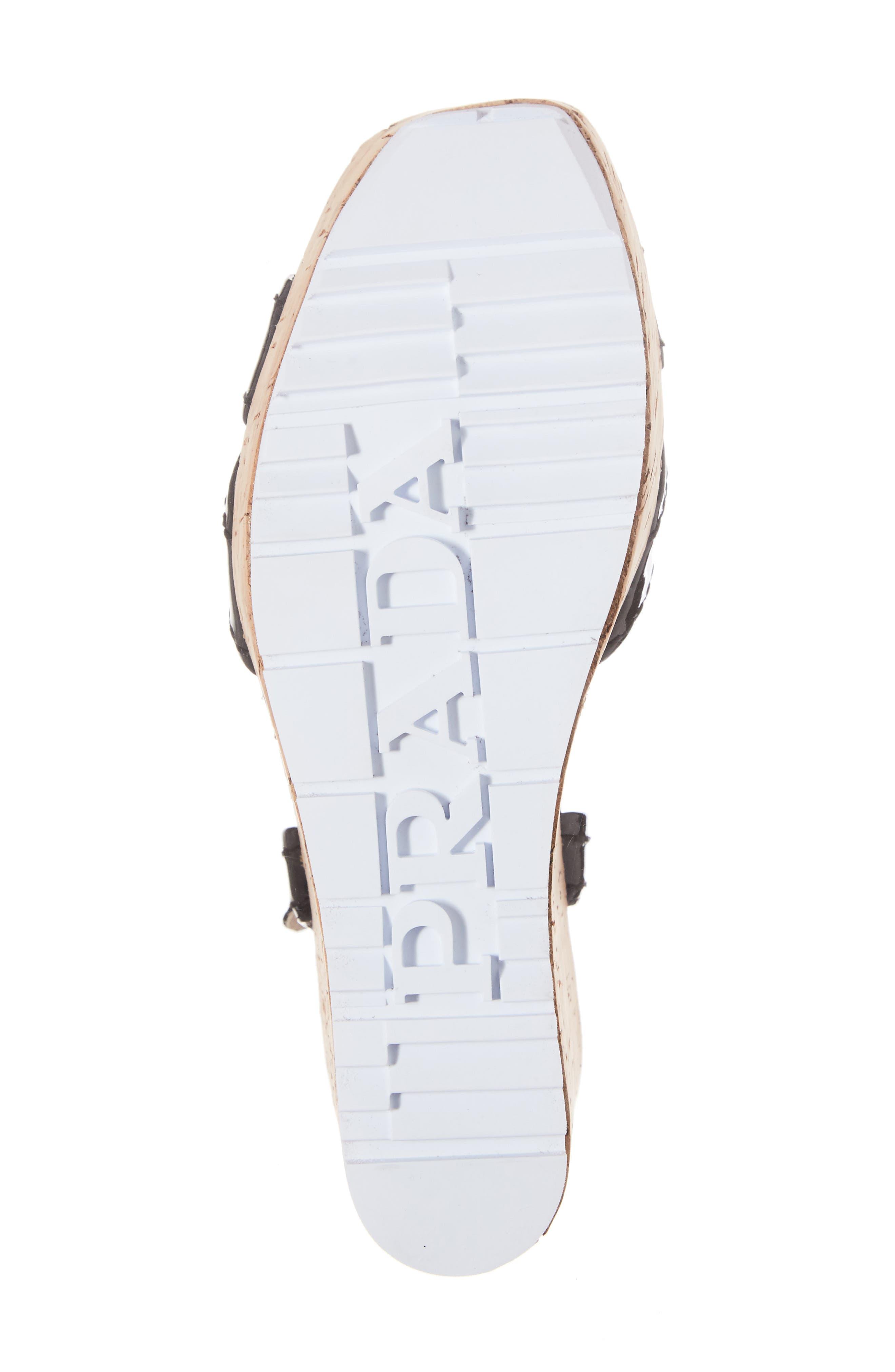 Cork Wedge Sandal,                             Alternate thumbnail 6, color,                             001
