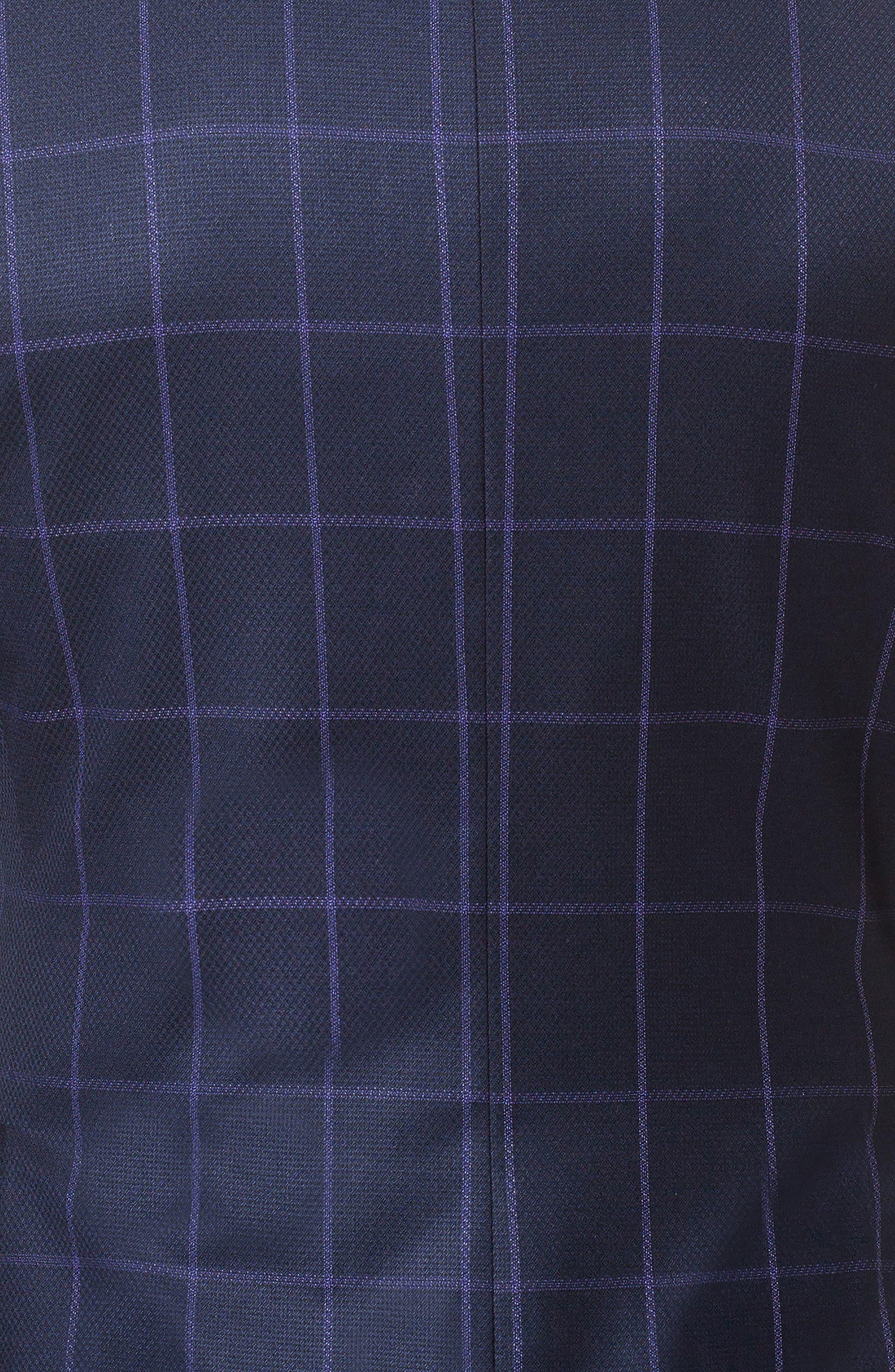 Descartes Check Linen & Cotton Blend Sport Coat,                             Alternate thumbnail 4, color,                             420
