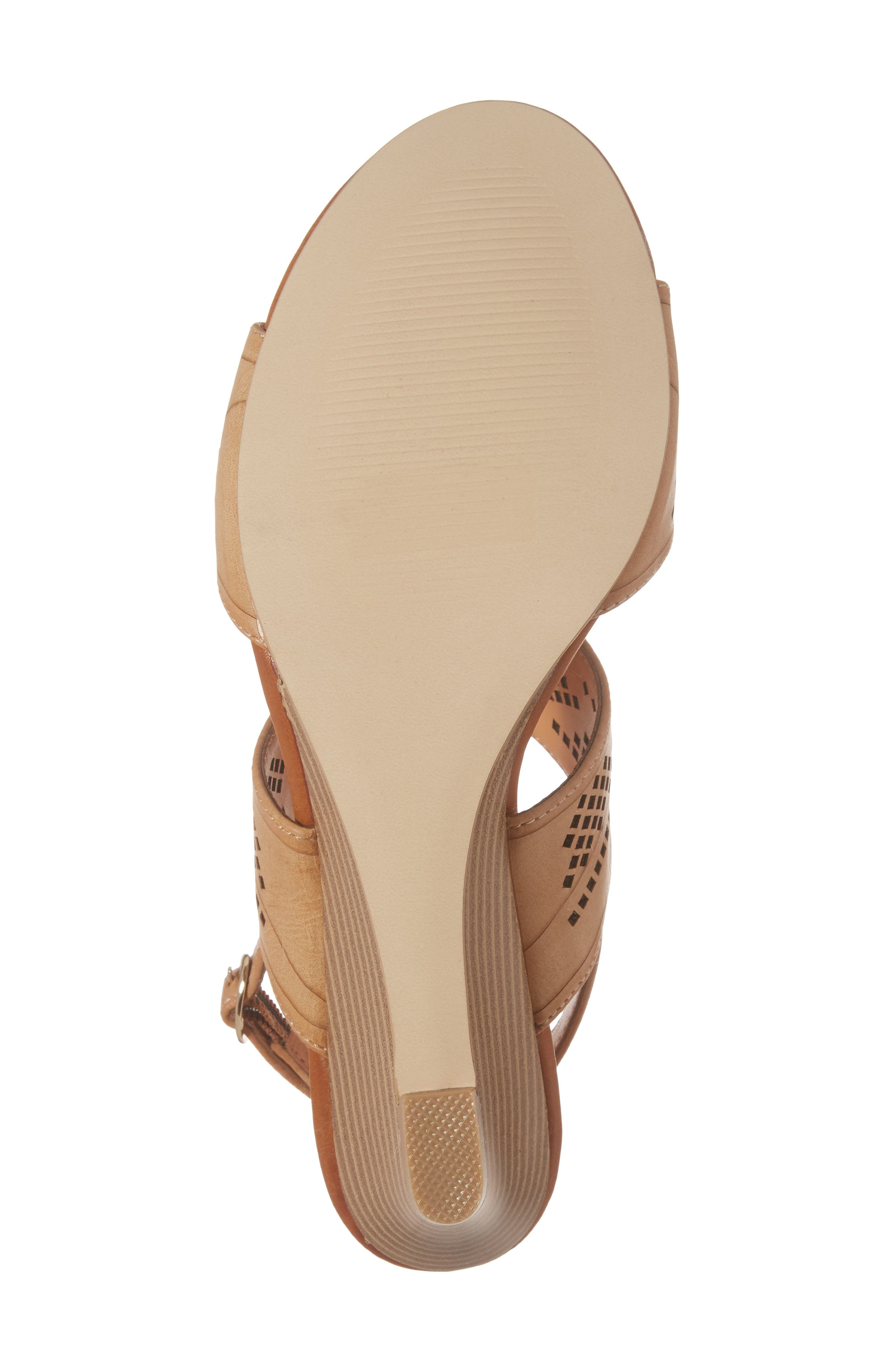 Sparce Perforated Wedge Sandal,                             Alternate thumbnail 12, color,