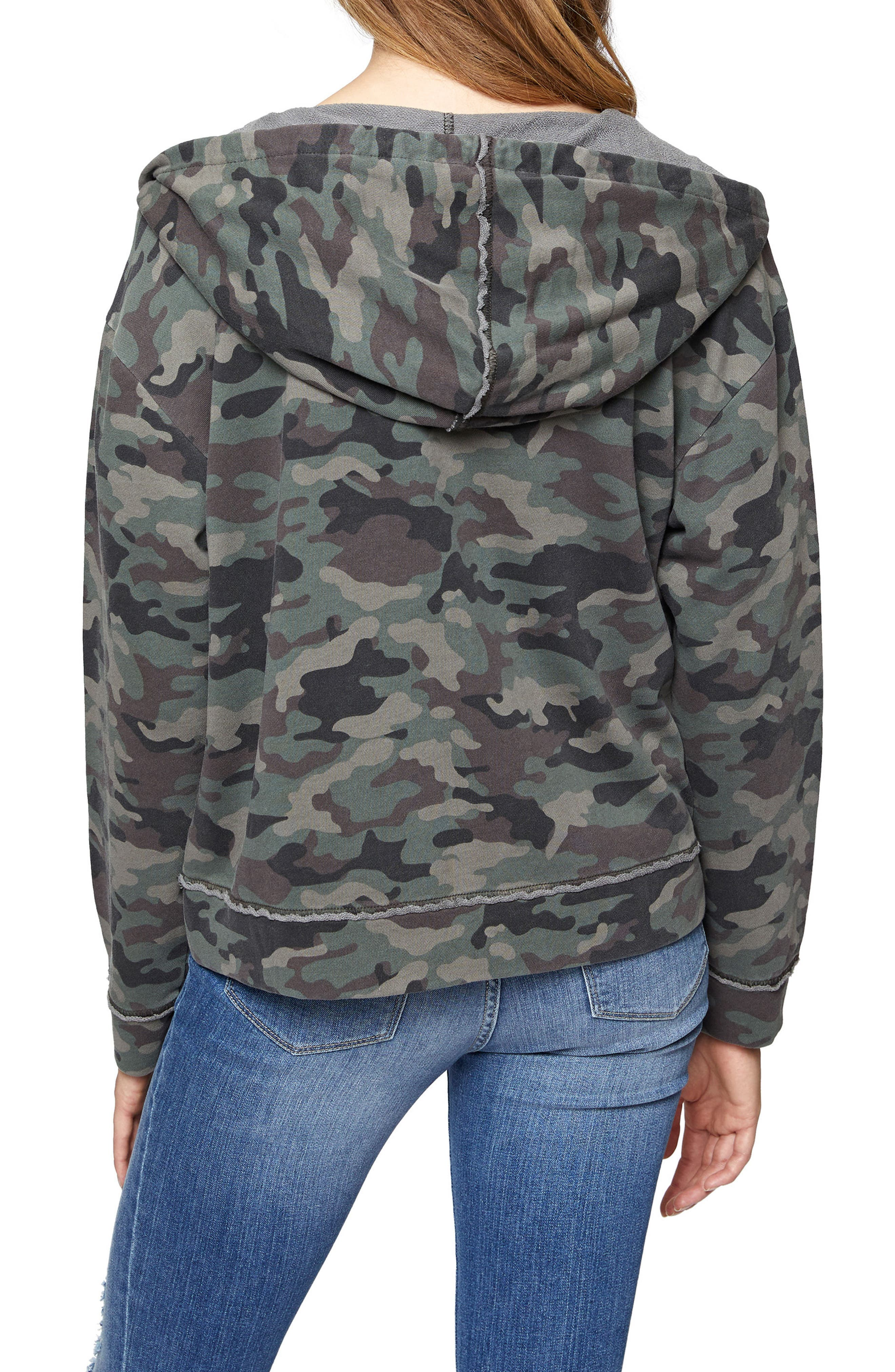 Camo Peace Trooper Hoodie Jacket,                             Alternate thumbnail 2, color,                             397